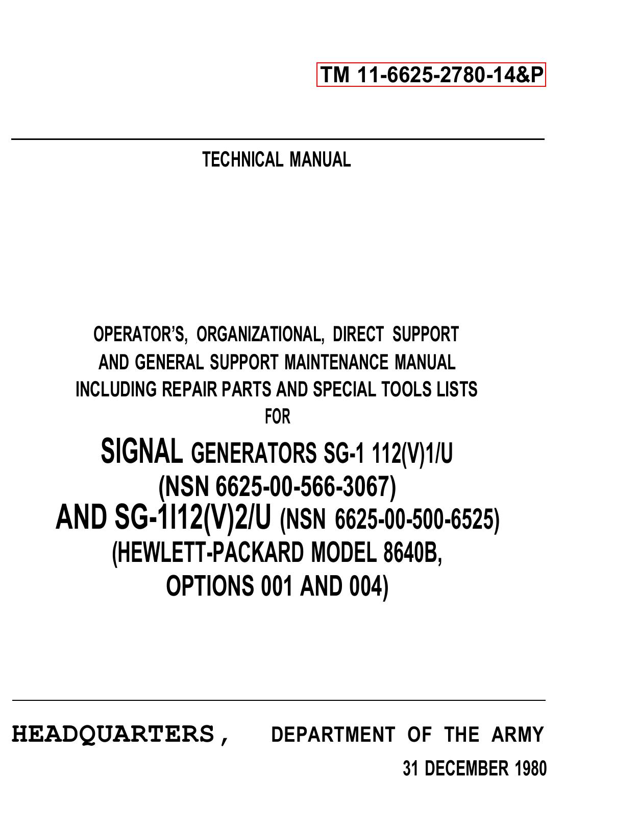 HEWLETT-PACKARD MODEL 8640B, O | manualzz com