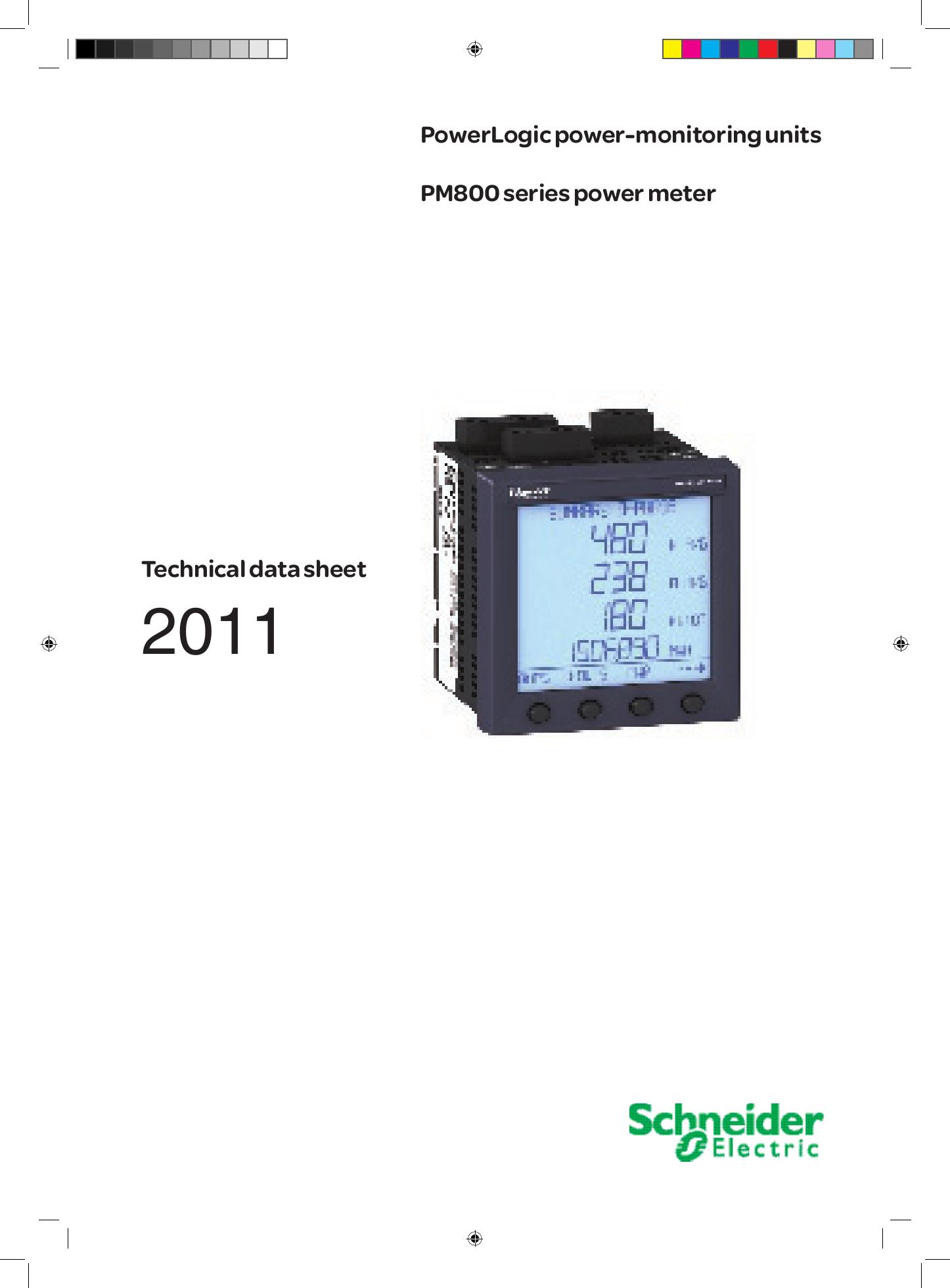 PM850MG Schneider Electric Powerlogic PM800 Power Meter