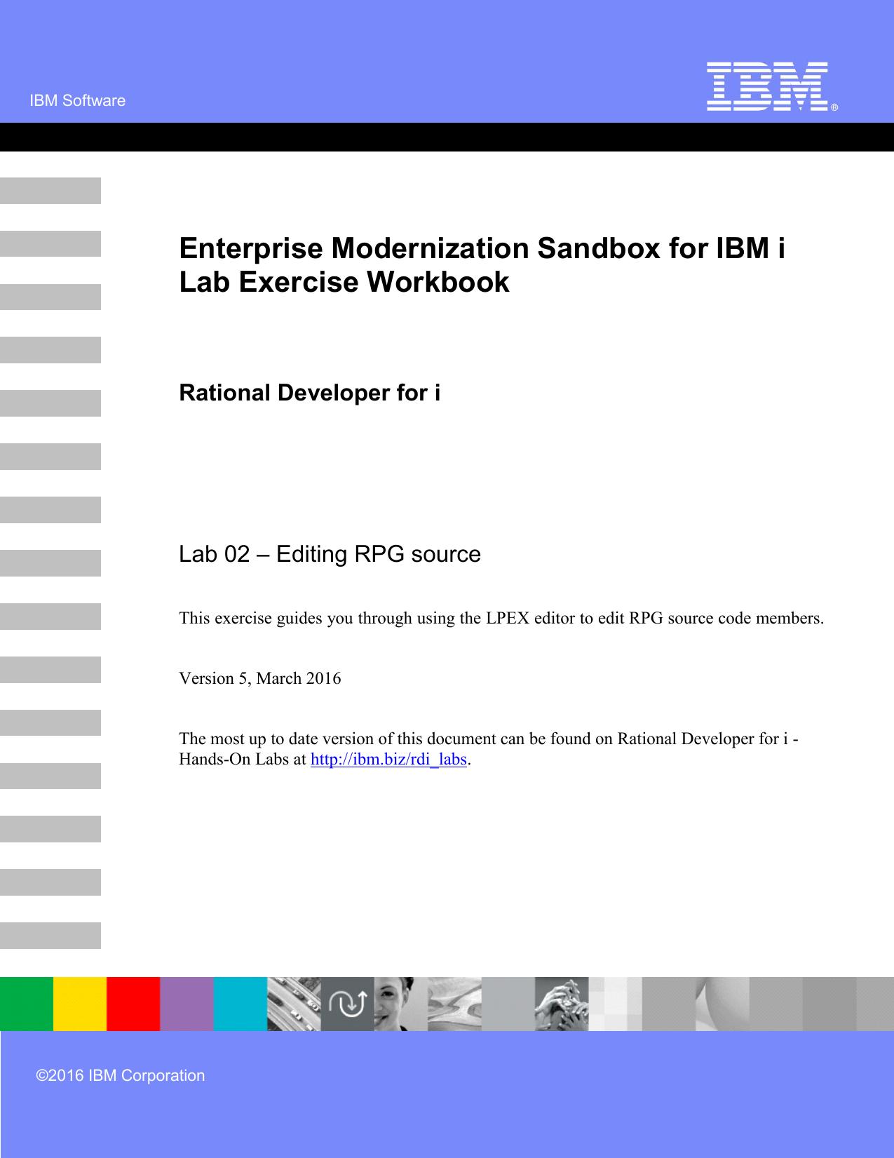 Enterprise Modernization Sandbox for IBM i Lab Exercise