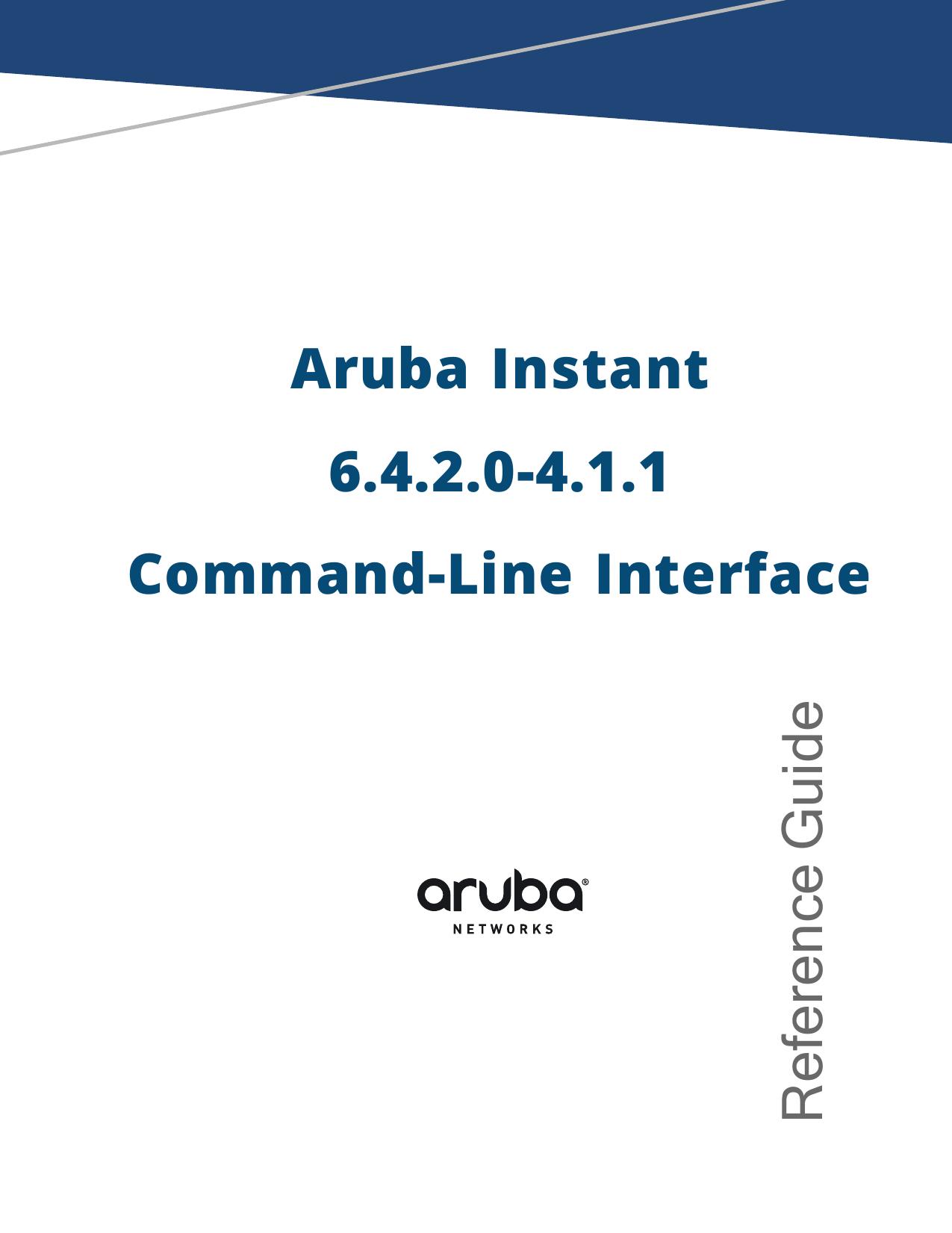 Aruba Instant 6 4 2 0-4 1 1 User Guide | manualzz com