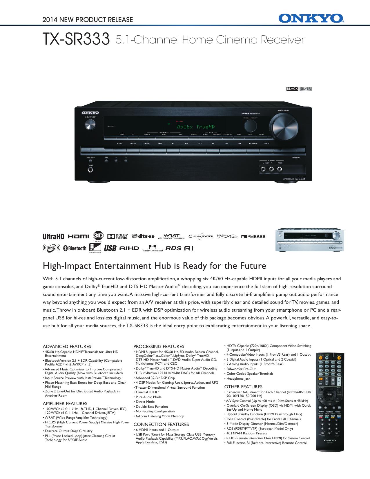 TX-SR333 5 1-Channel Home Cinema Receiver   manualzz com