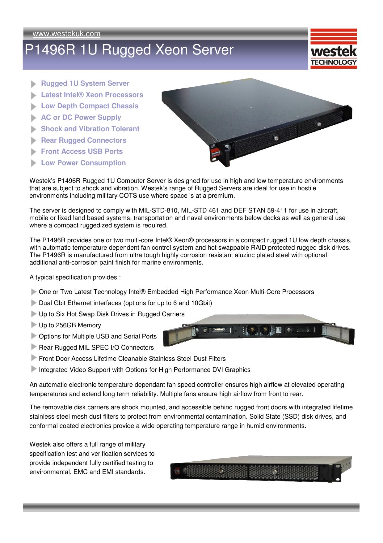 P1496R Rugged Server pub | manualzz com