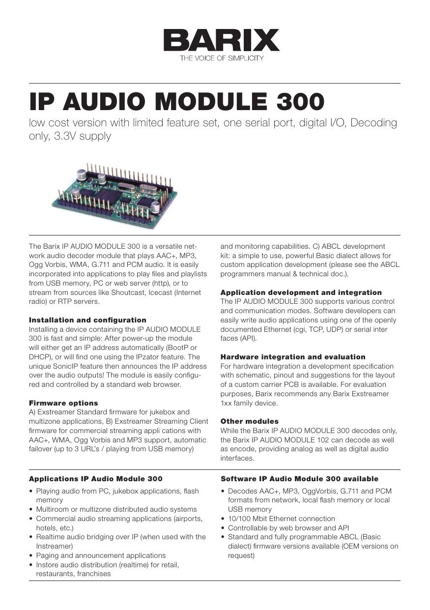 ip audio module 300 - AV-iQ   manualzz com