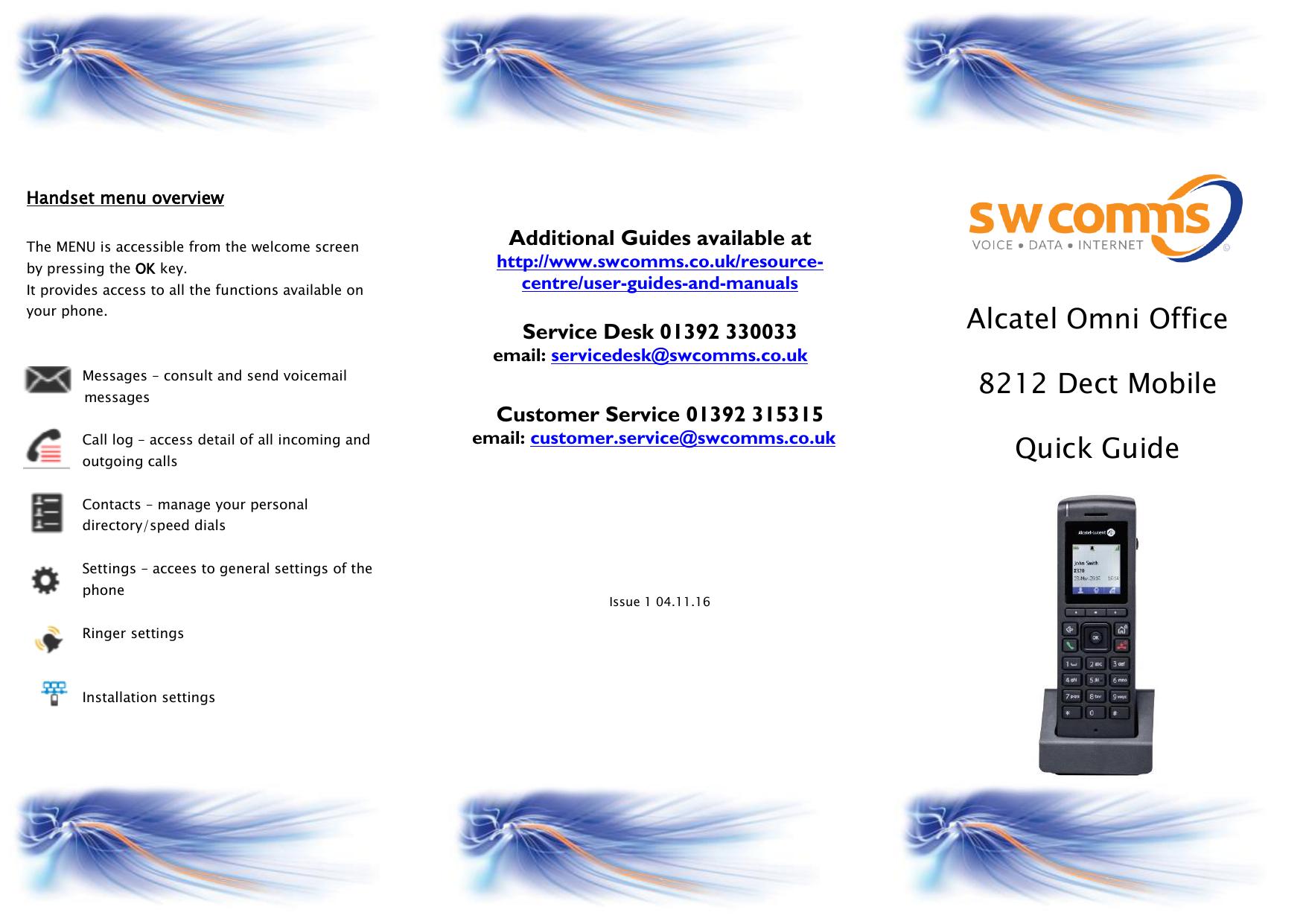 Alcatel Omni Office 8212 Dect Mobile Quick Guide | manualzz com