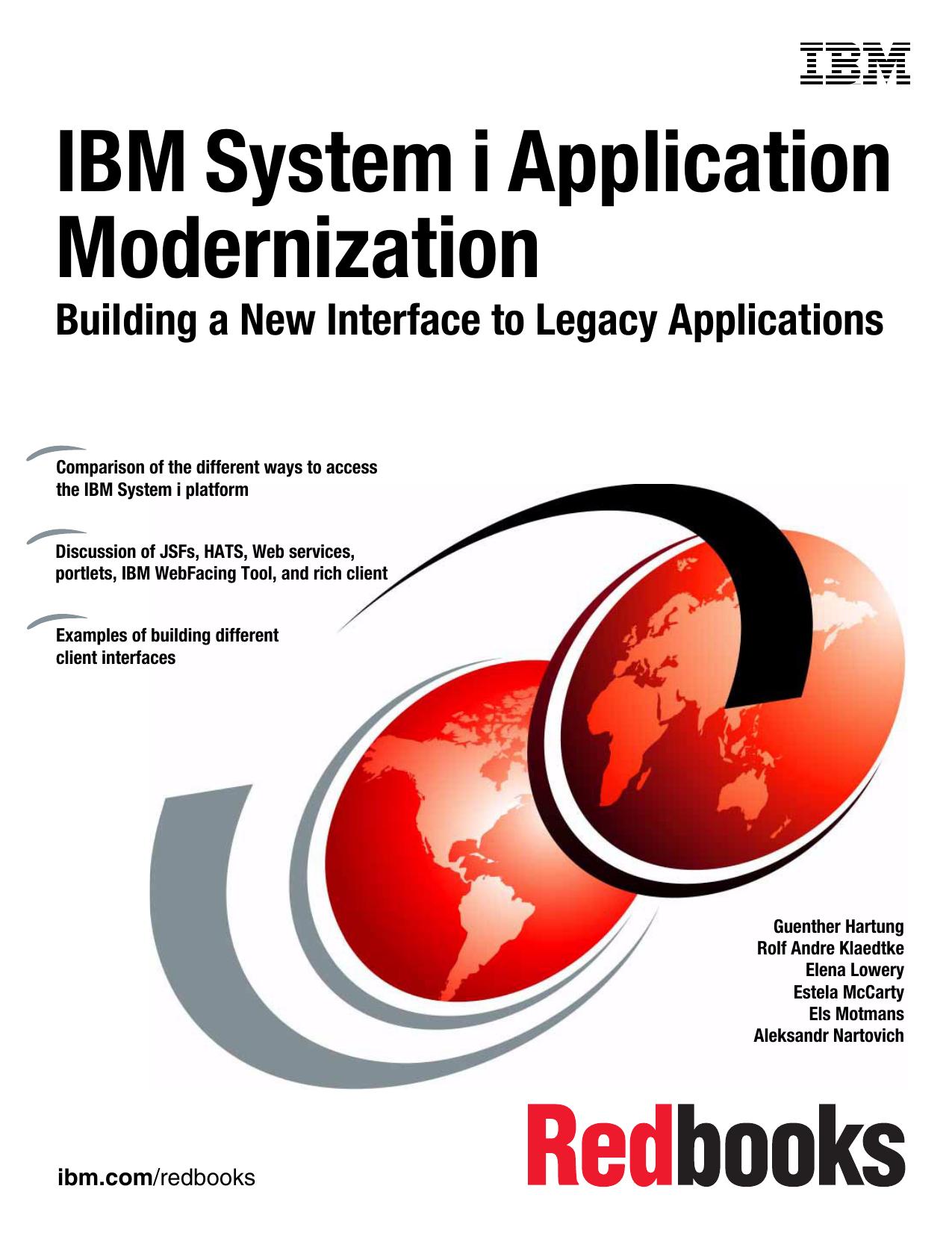 IBM System i Application Modernization: Building a New