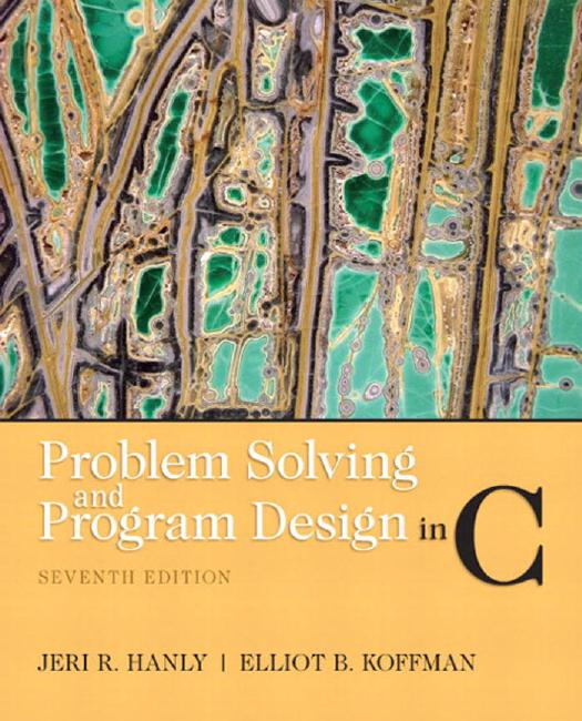 Problem Solving and Program Design in C (7th ed   - X