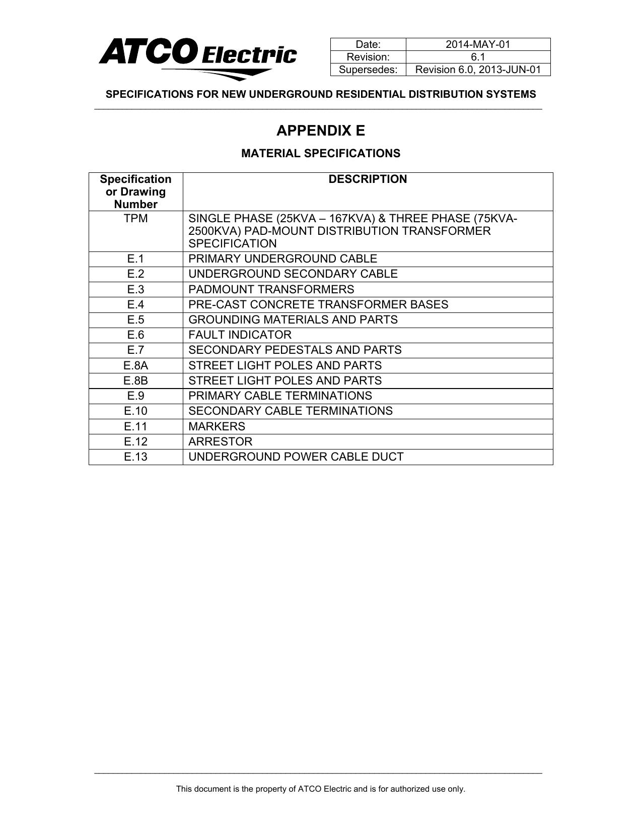 appendix e - ATCO Electric   manualzz com