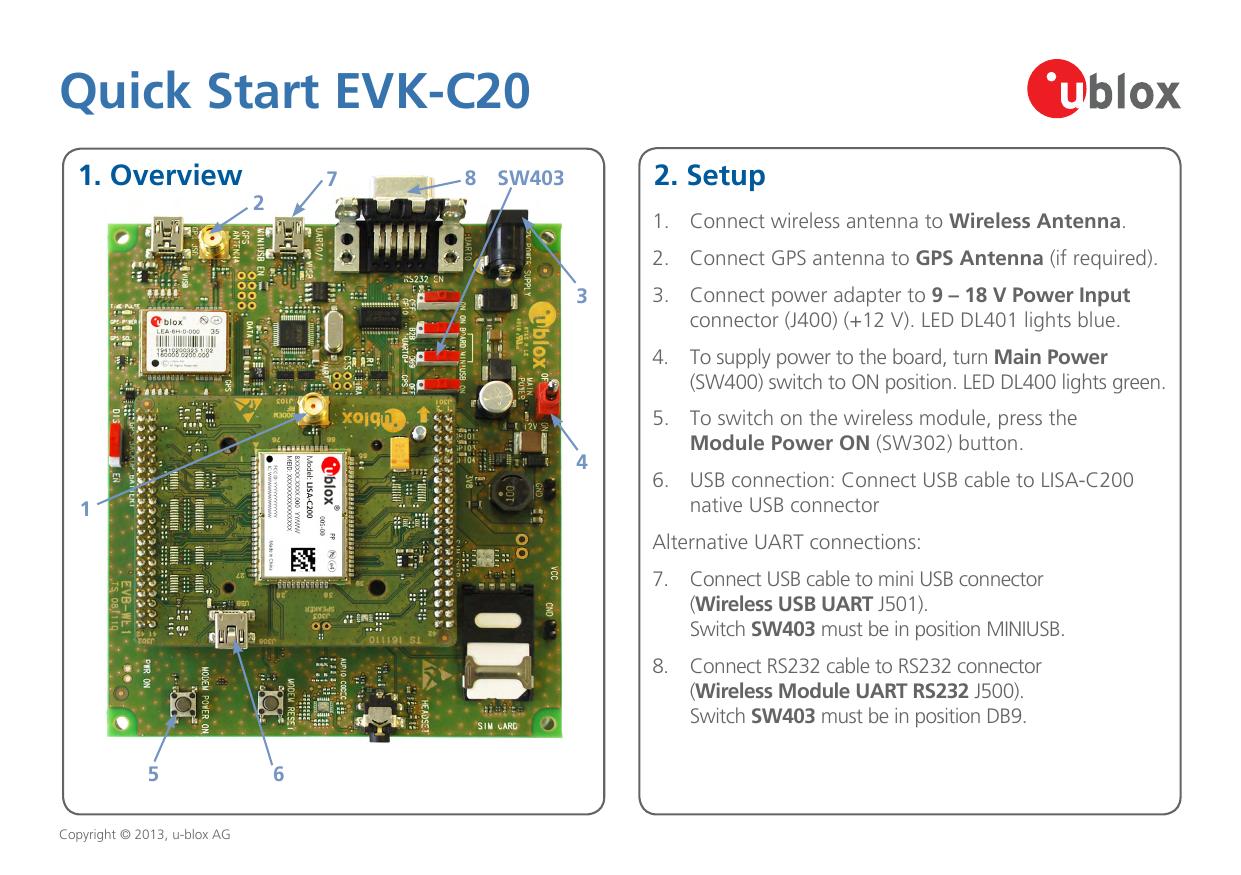 Quick Start EVK-C20 - u-blox | manualzz com