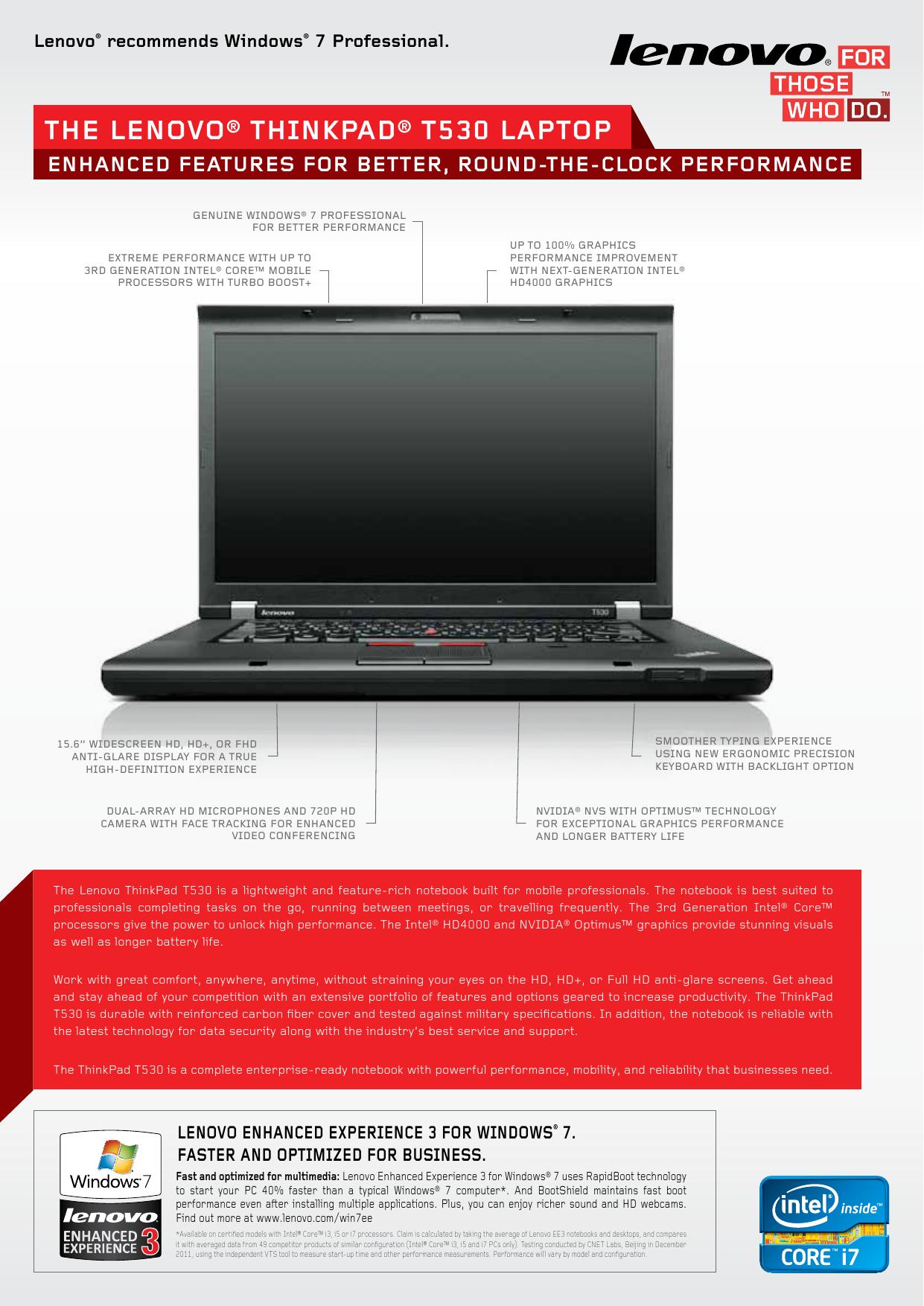 the Lenovo® thinkPad® t530 LaPtoP   manualzz com