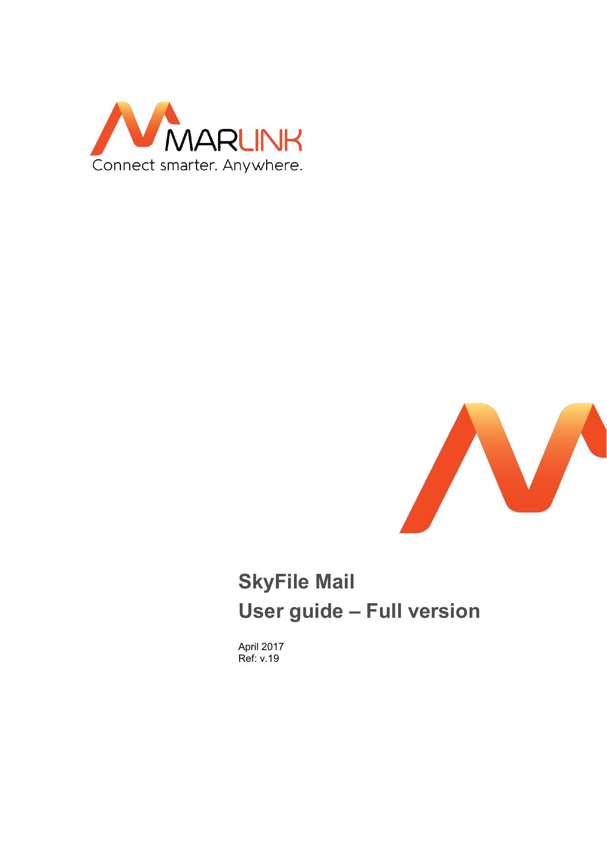 SkyFile Mail | User guide | manualzz com