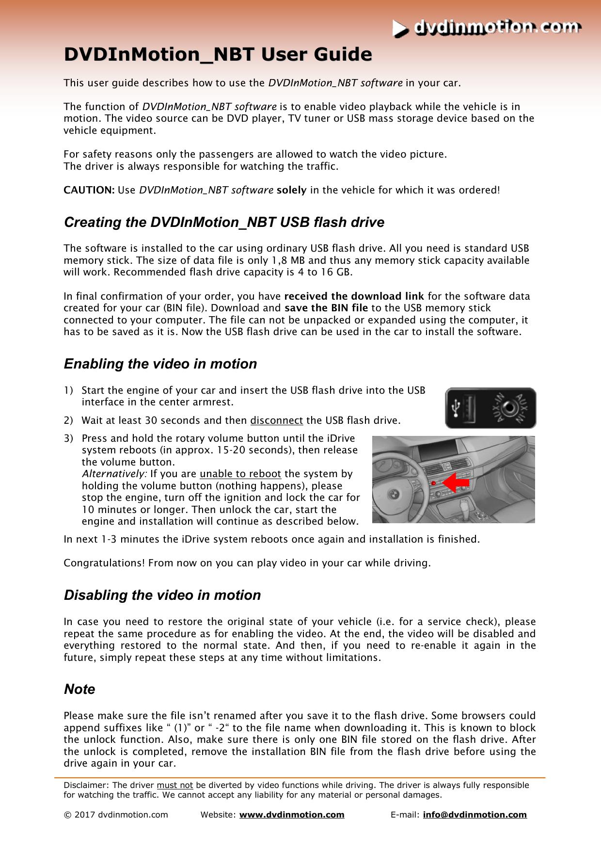 DVDInMotion User Guide | manualzz com