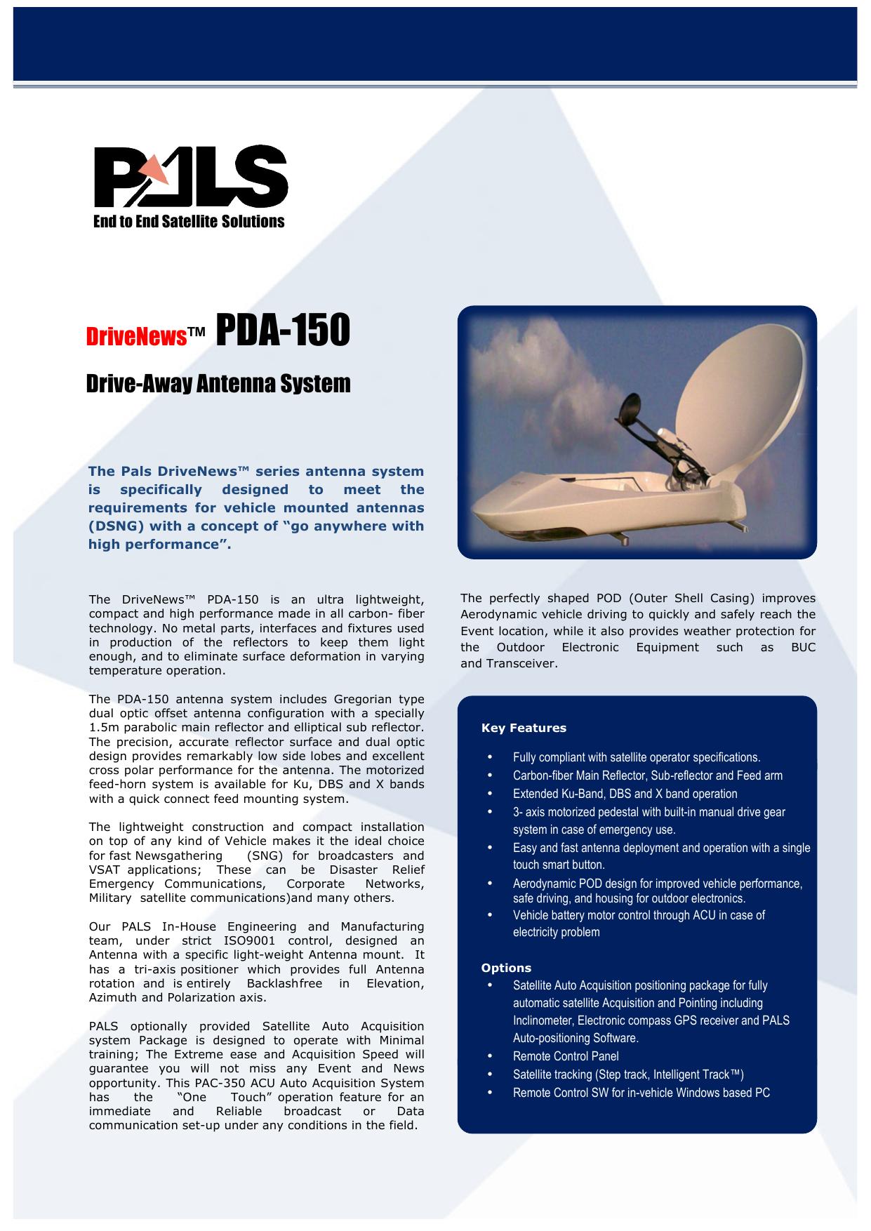 DriveNews™ PDA-150 Drive-Away Antenna System   manualzz com