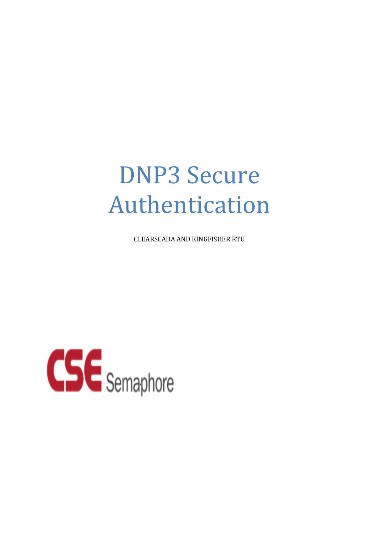 DNP3 Secure Authentication | manualzz com
