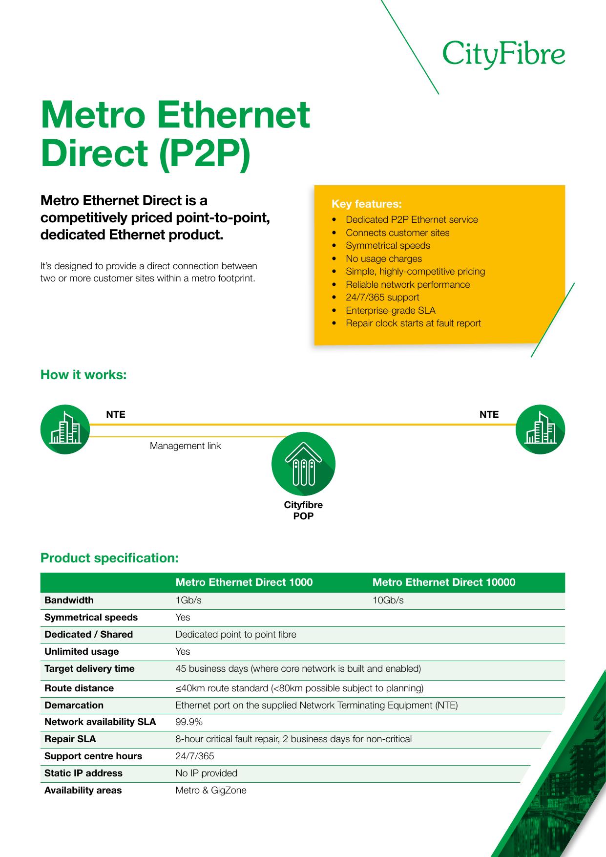 Metro Ethernet Direct (P2P)   manualzz com