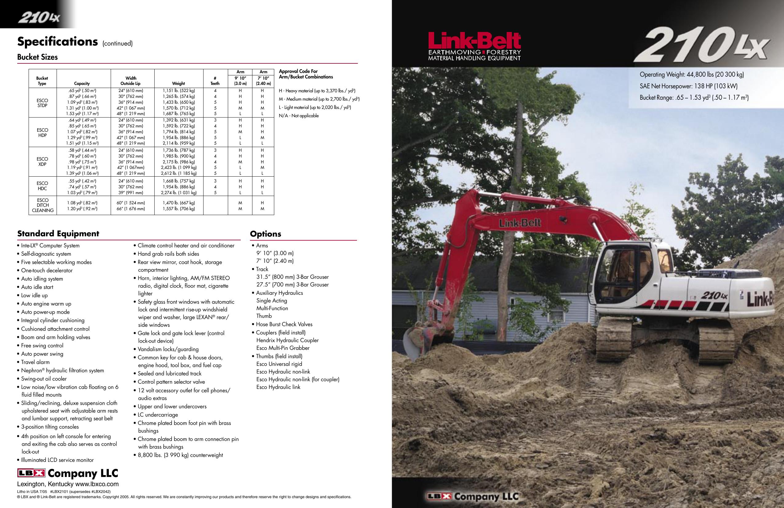 210 LX - LBX Company | manualzz com