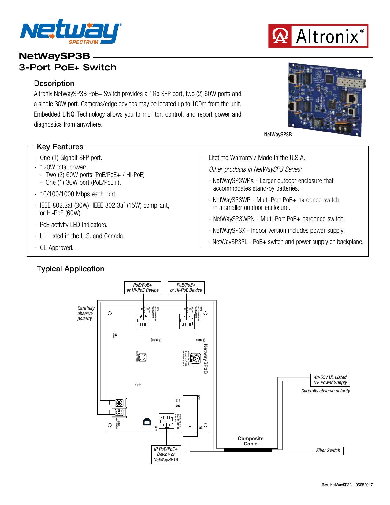 NetWaySP3B 3-Port PoE+ Switch   manualzz com