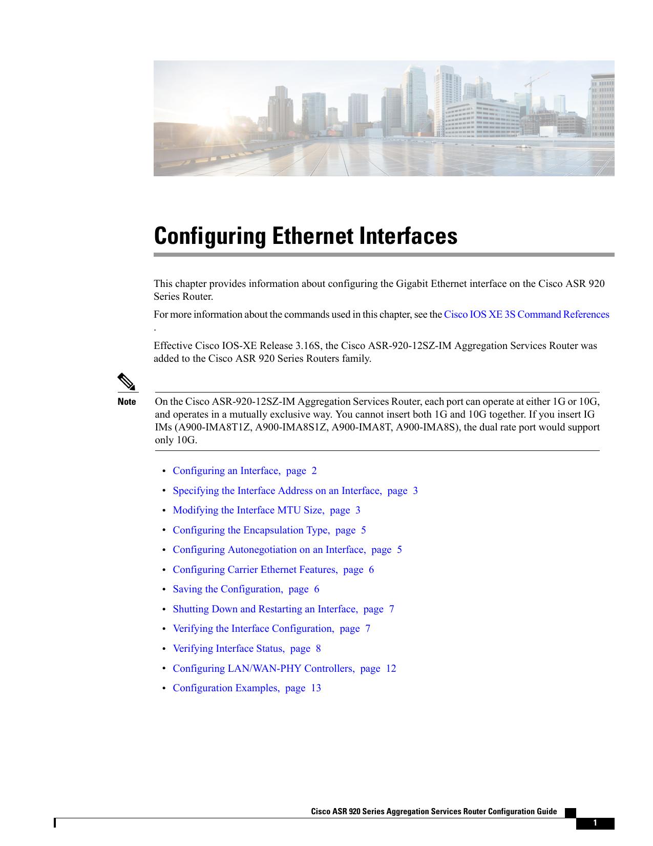 Configuring Ethernet Interfaces | manualzz com