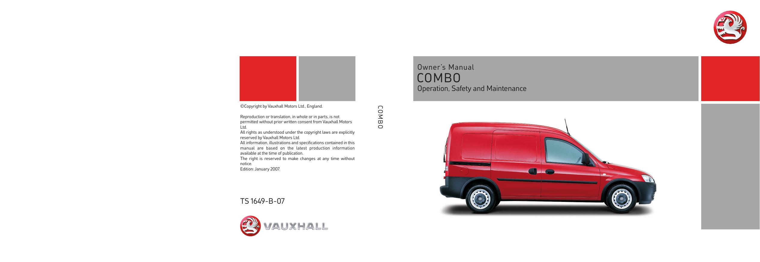 VAUXHALL COMBO C 1.4 Handbrake Cable Centre 04 to 11 Z14XEP Hand Brake Parking