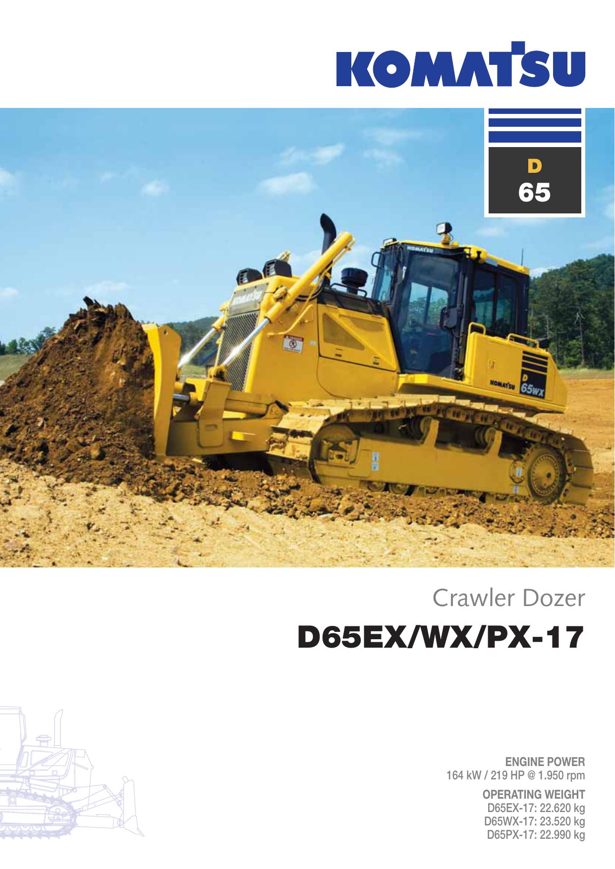Komatsu D65-17 EX/PX/WX Bulldozer Product Brochure