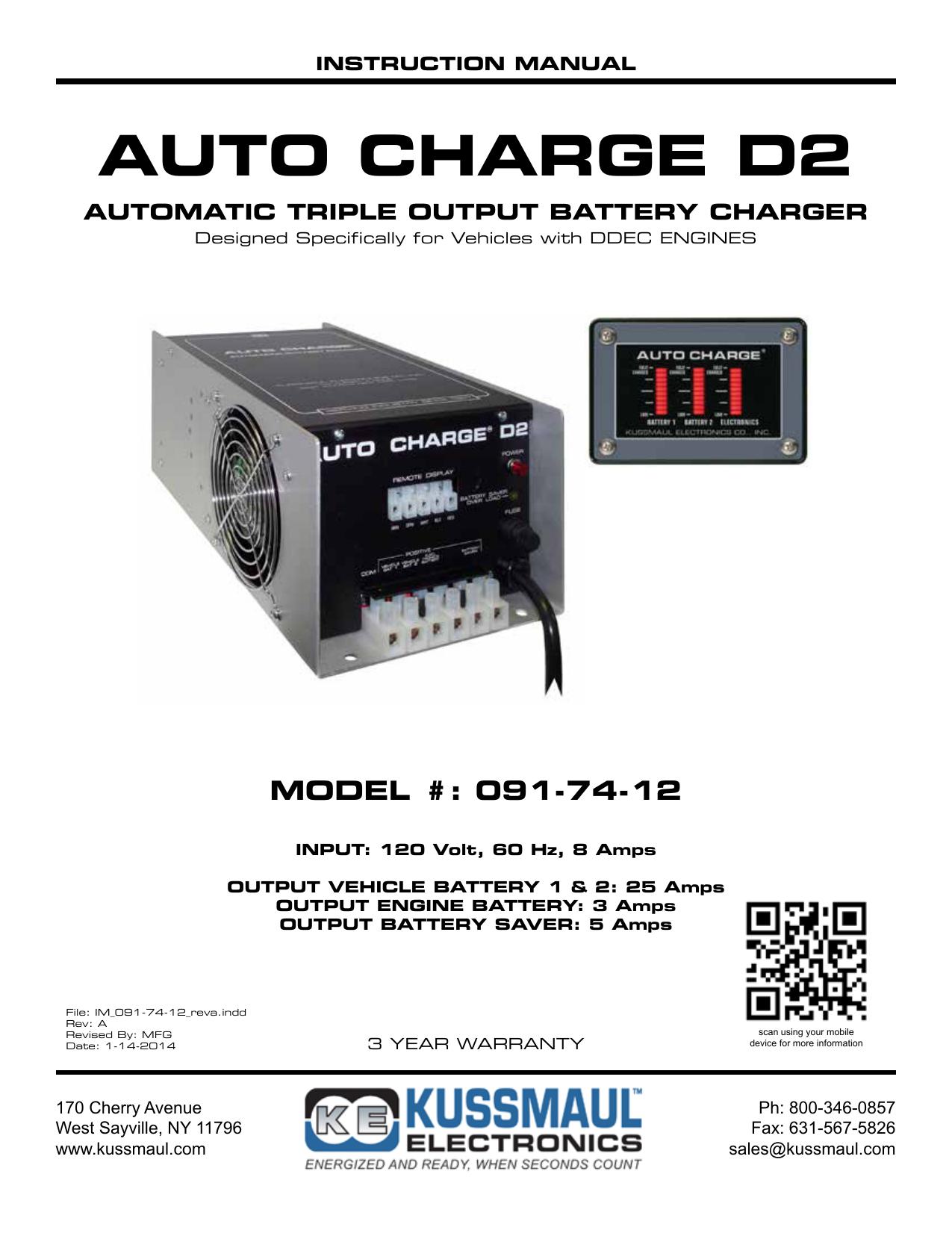 auto charge d2 - kussmaul electronics