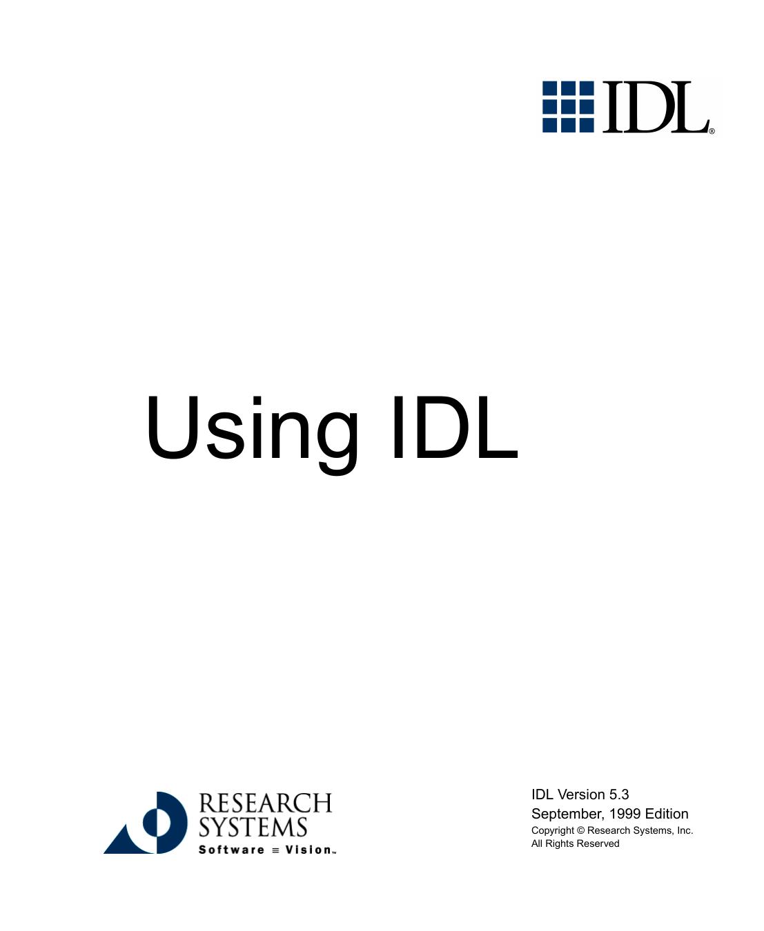 Using IDL | manualzz com