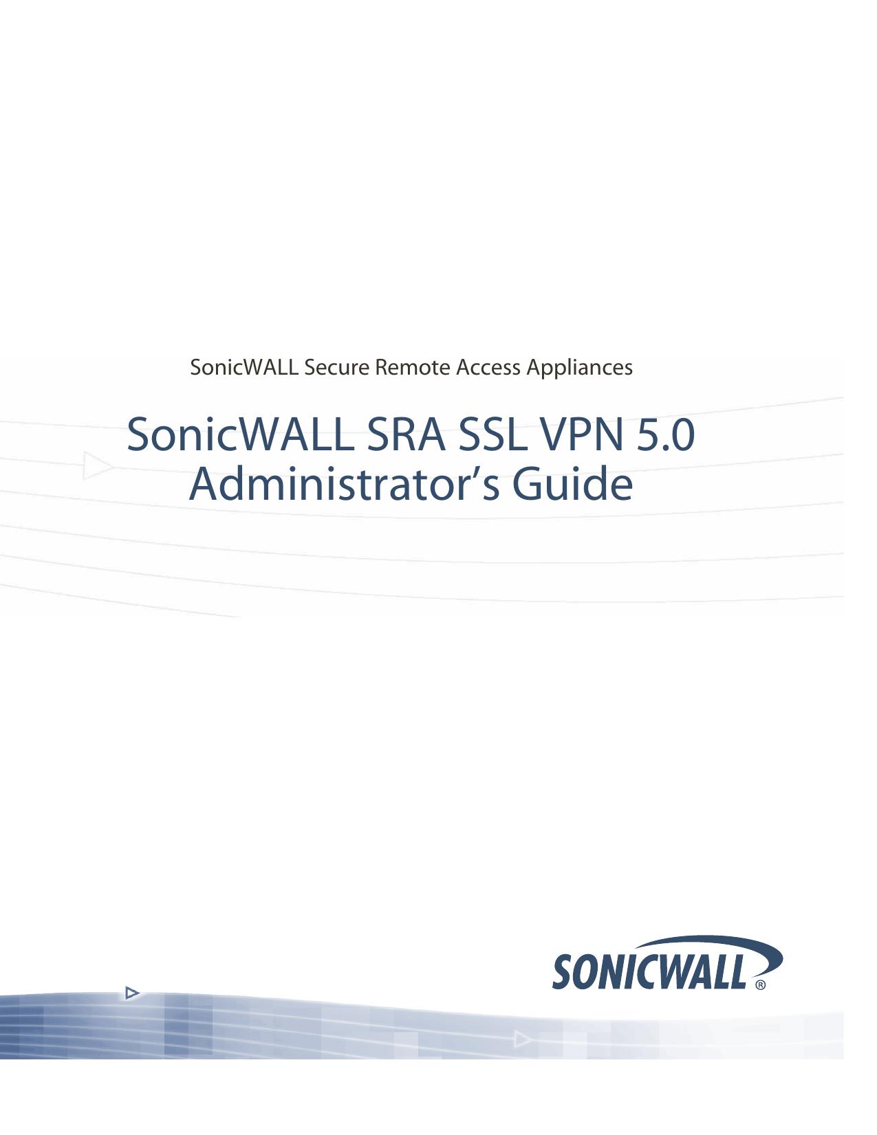 SonicWALL SSL VPN 5 0 Administrator`s Guide   manualzz com