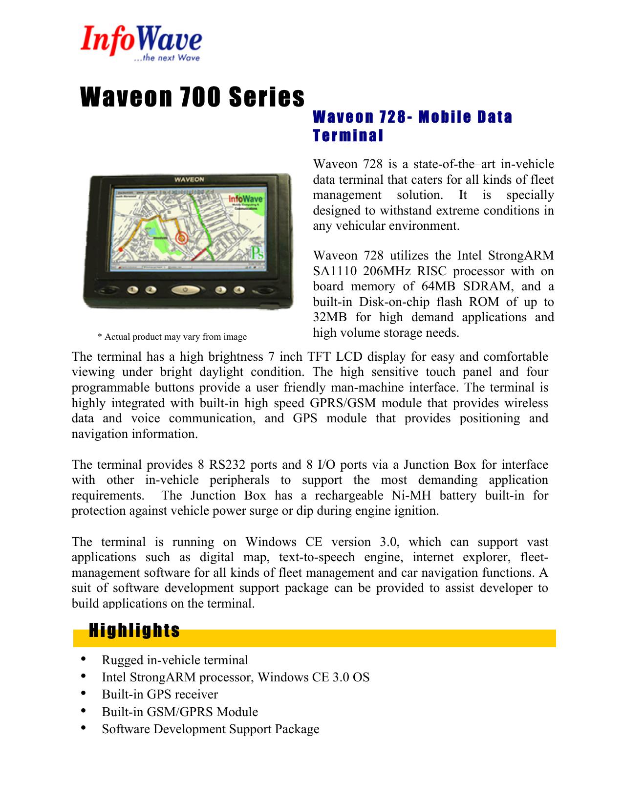 Waveon 700 Series | manualzz com