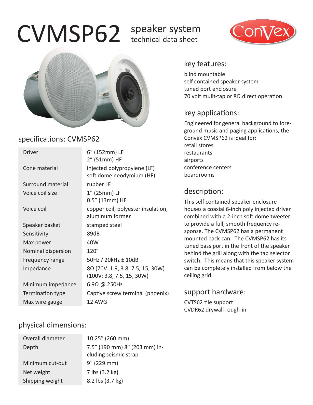 CVMSP62 speaker system - Martech | manualzz com
