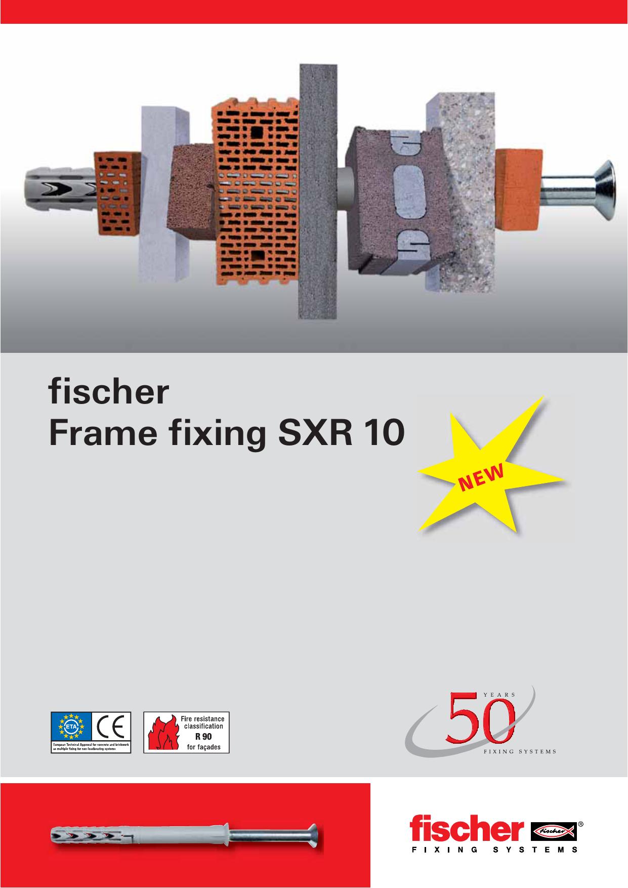 fischer Frame fixing SXR 10 | Manualzz