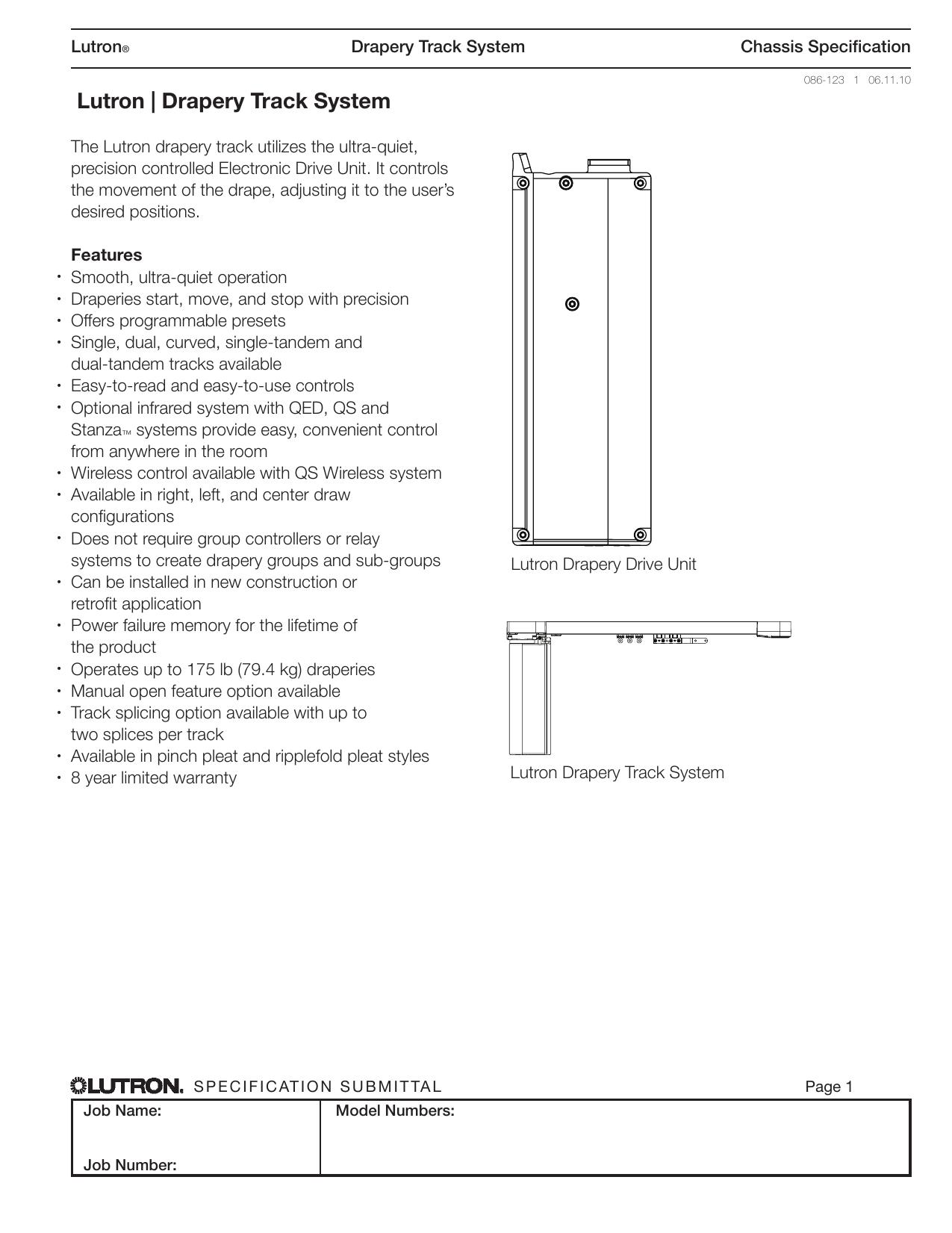 Lutron   Drapery Track System   manualzz com