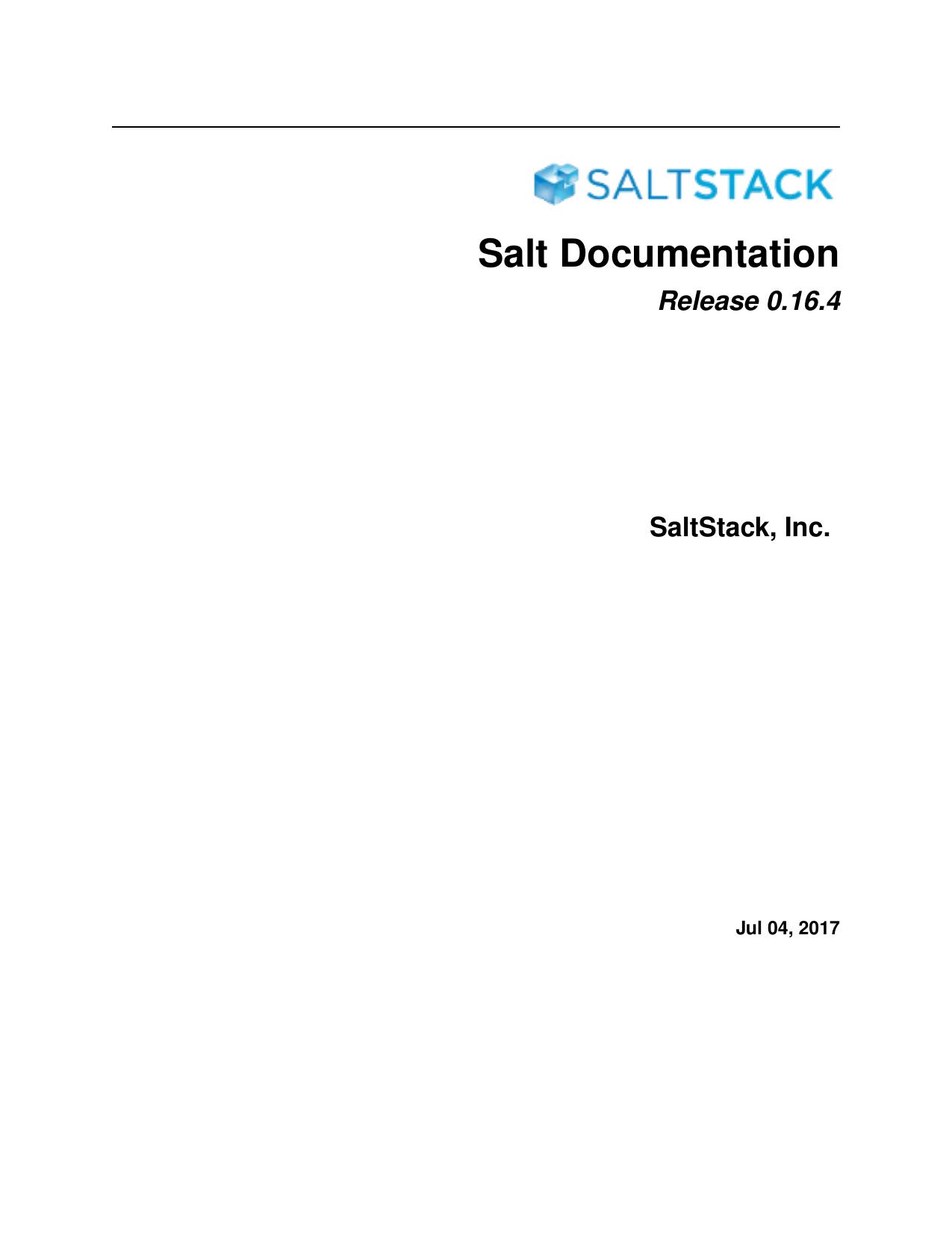Salt Documentation | manualzz com