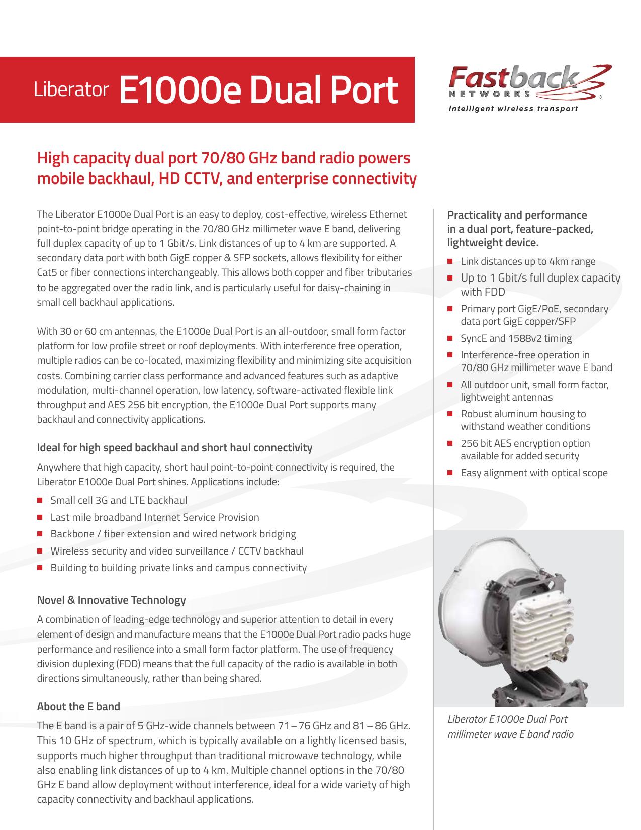 E1000e Dual Port - Fastback Networks   manualzz com