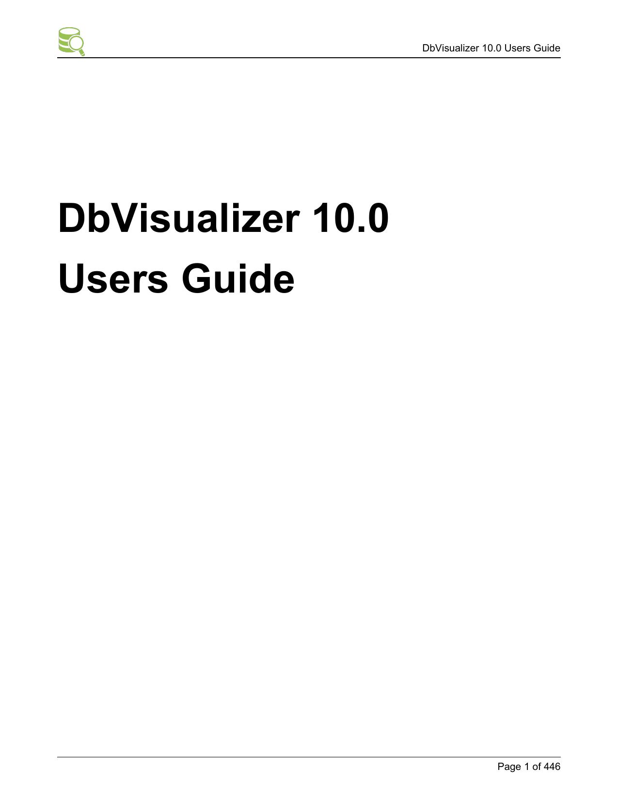 DbVisualizer 10 0 Users Guide | manualzz com