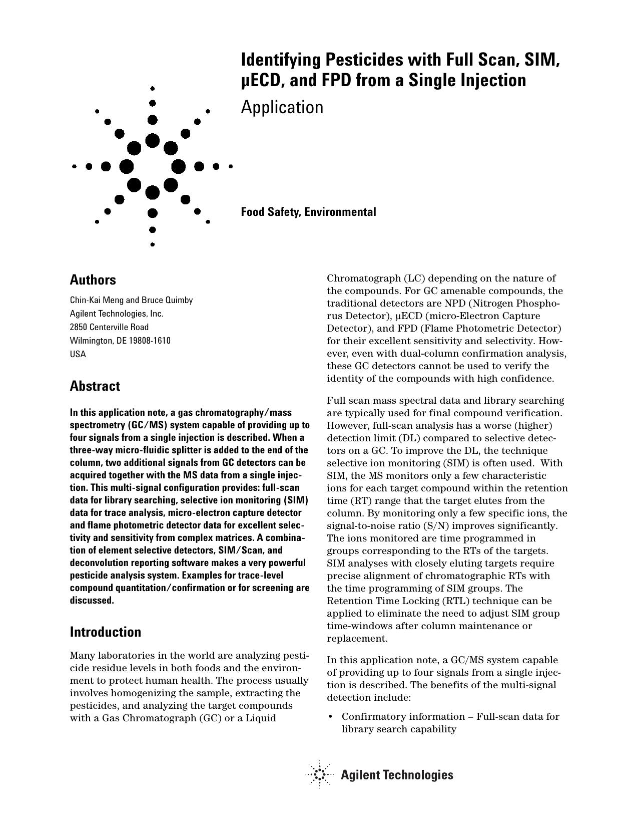 IDing Pesticides | manualzz com