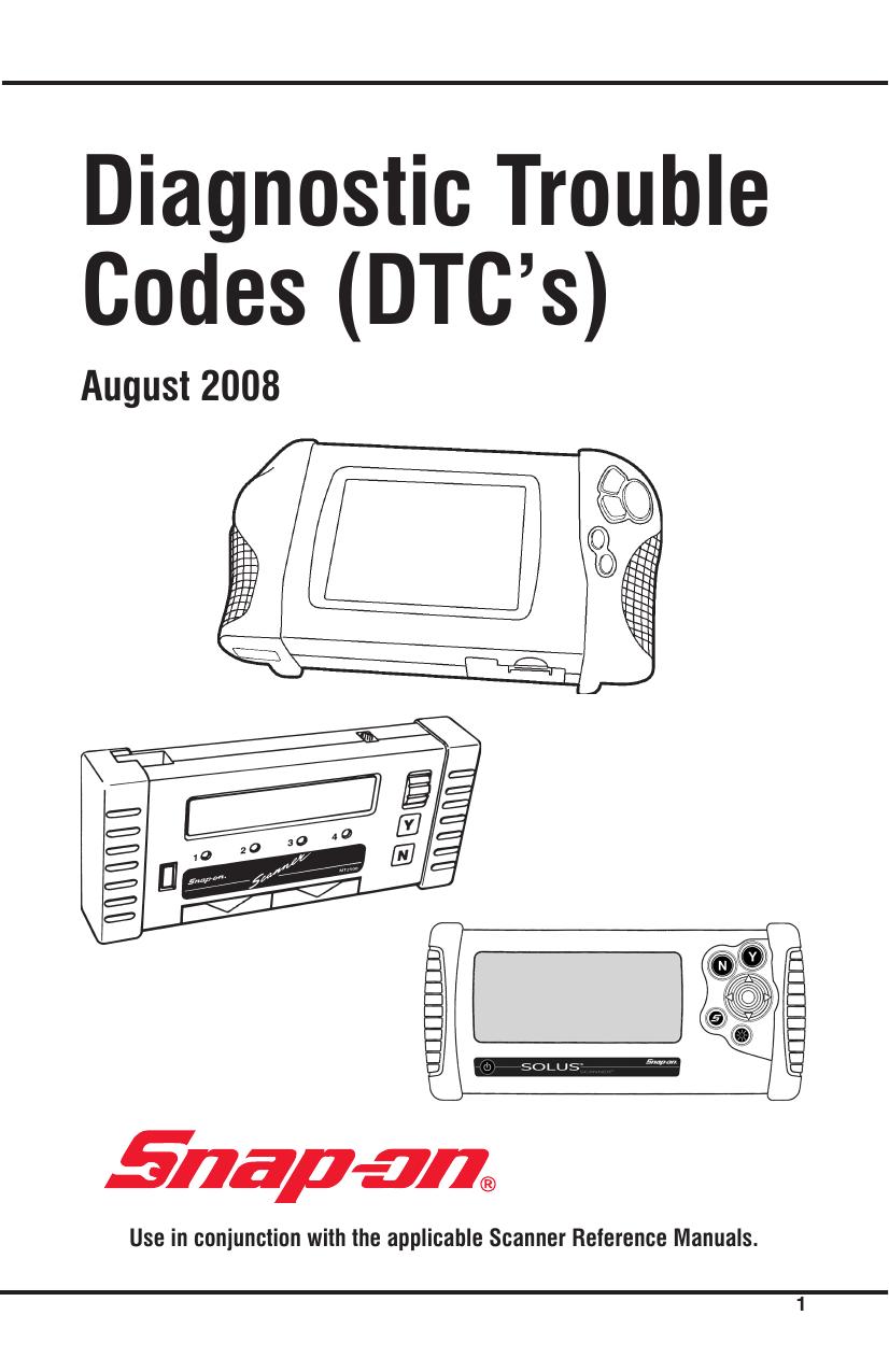 Diagnostic Trouble Codes (DTC`s) | manualzz com
