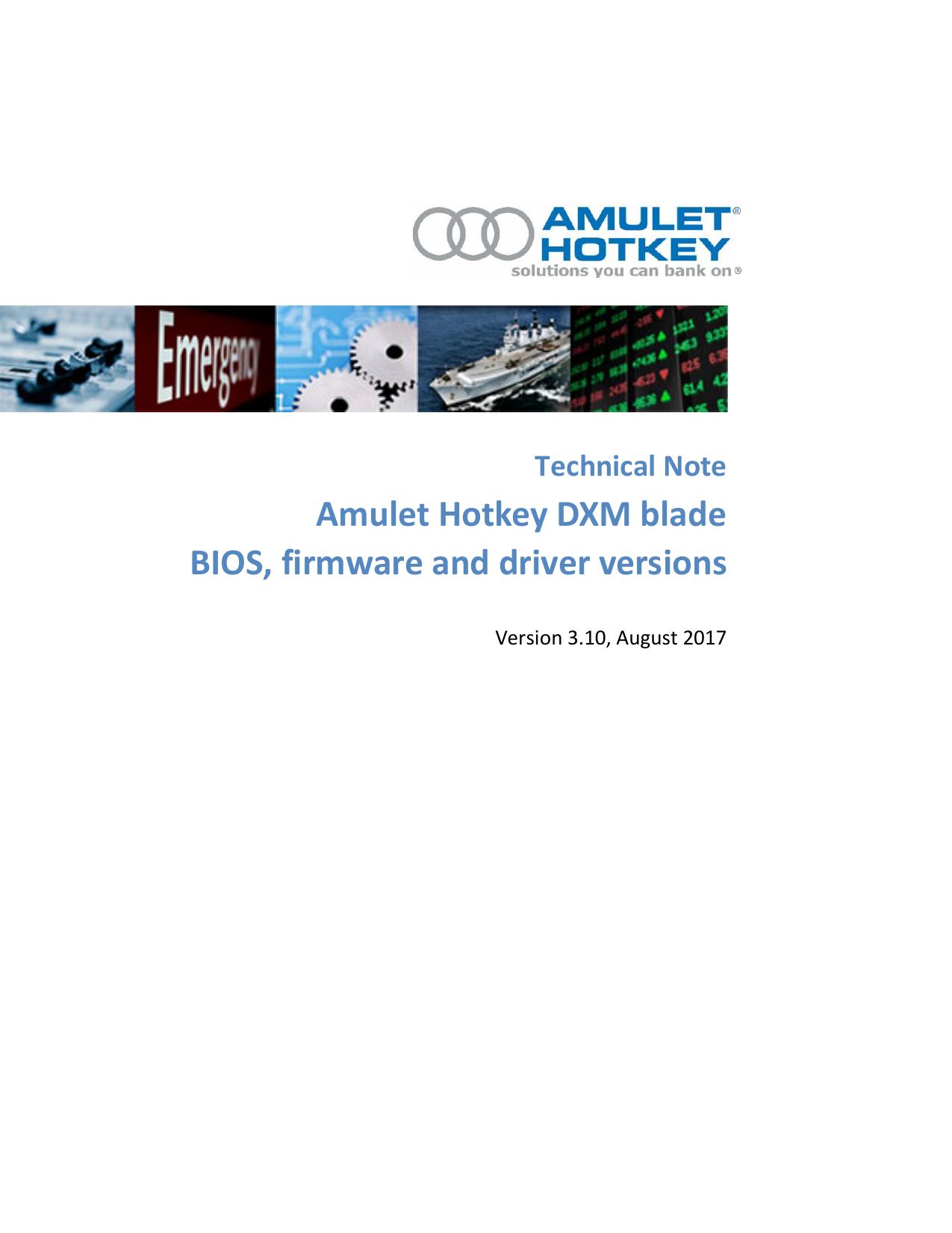Amulet Hotkey DXM blade BIOS, firmware and driver   manualzz com