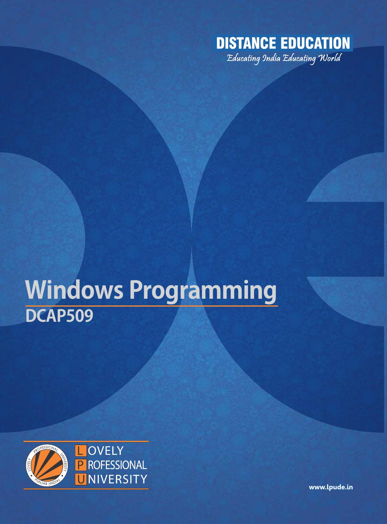 Windows Programming | manualzz com