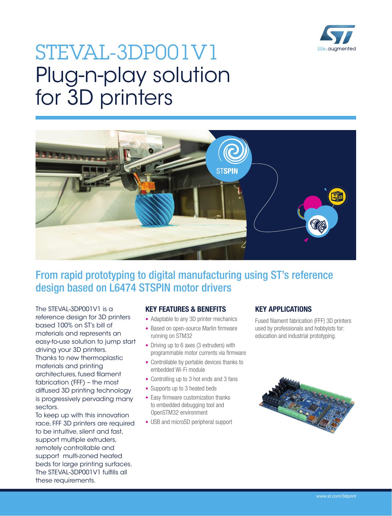 STEVAL-3DP001V1 Plug-n-play solution for 3D printers | manualzz com