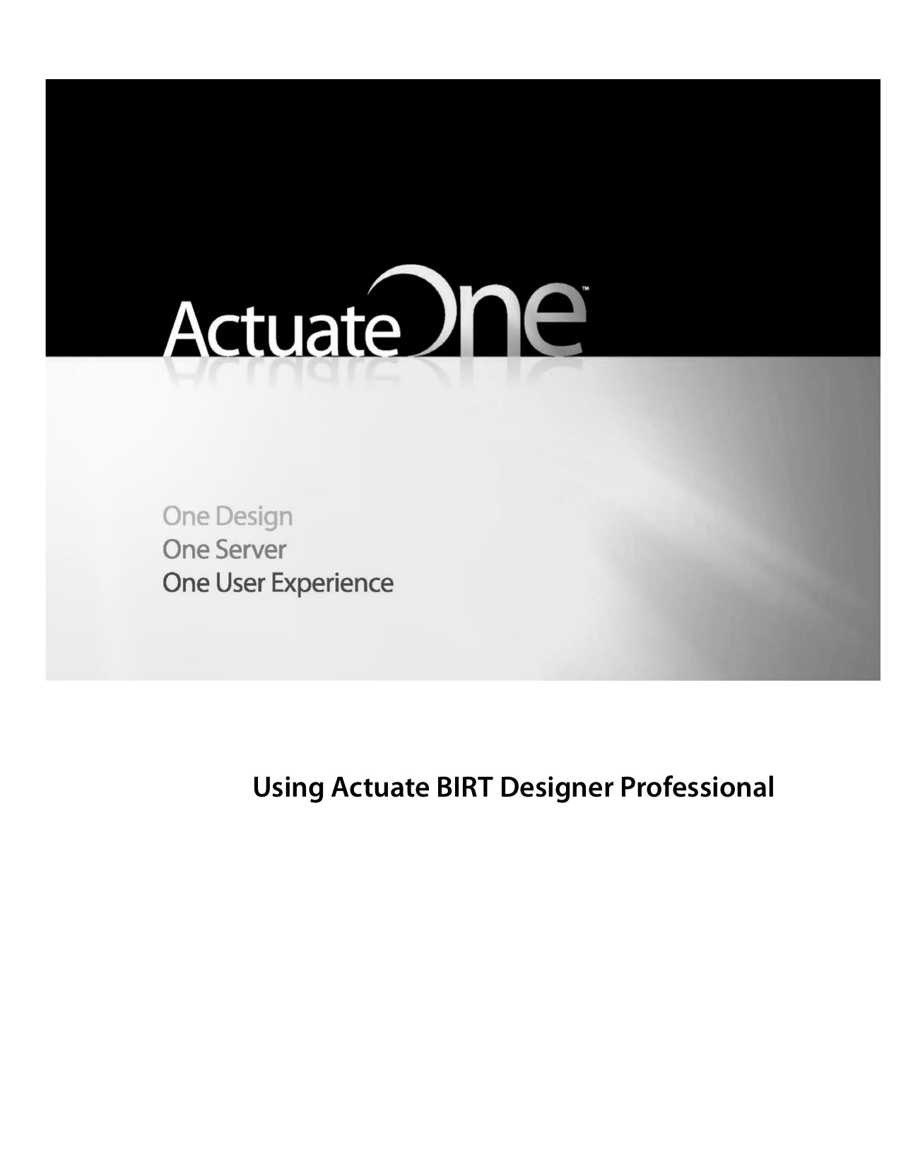 Using Actuate BIRT Designer Professional | manualzz com
