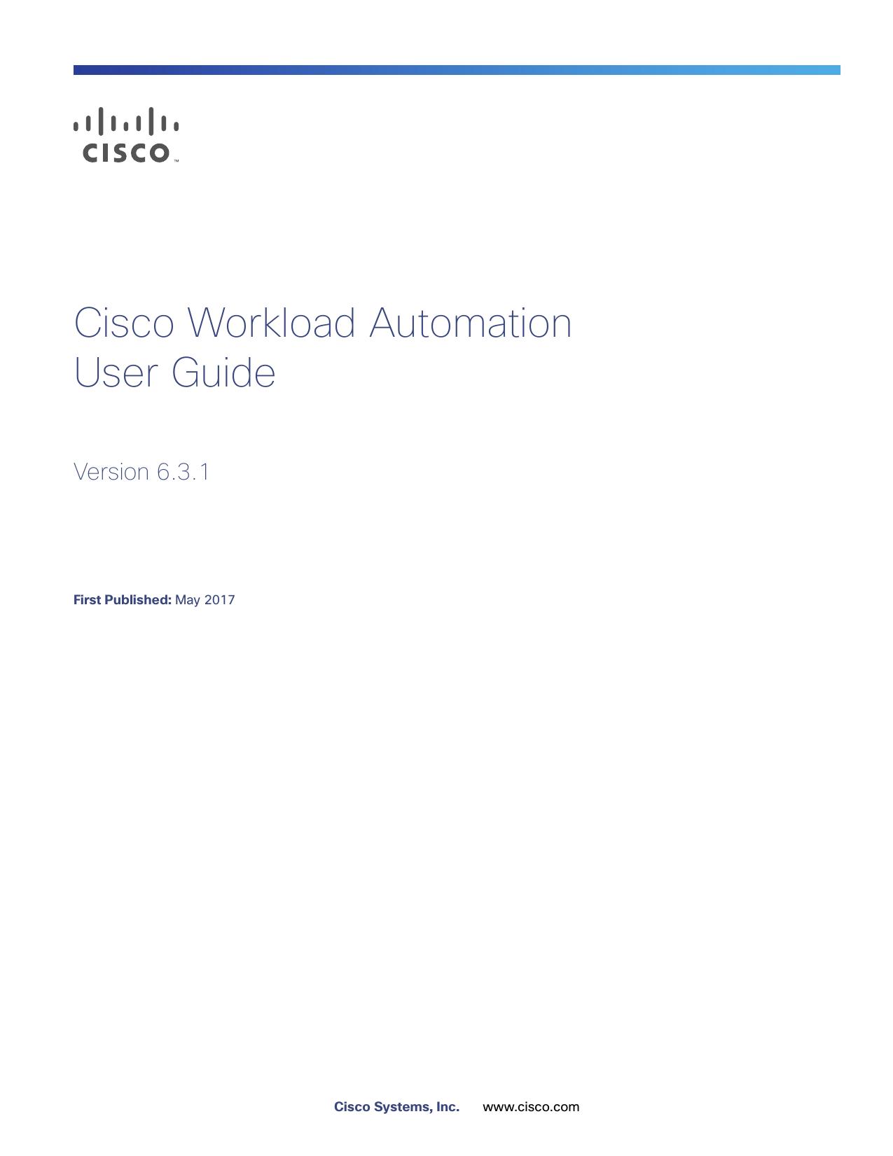 Cisco Workload Automation 6 3 1 User Guide   manualzz com