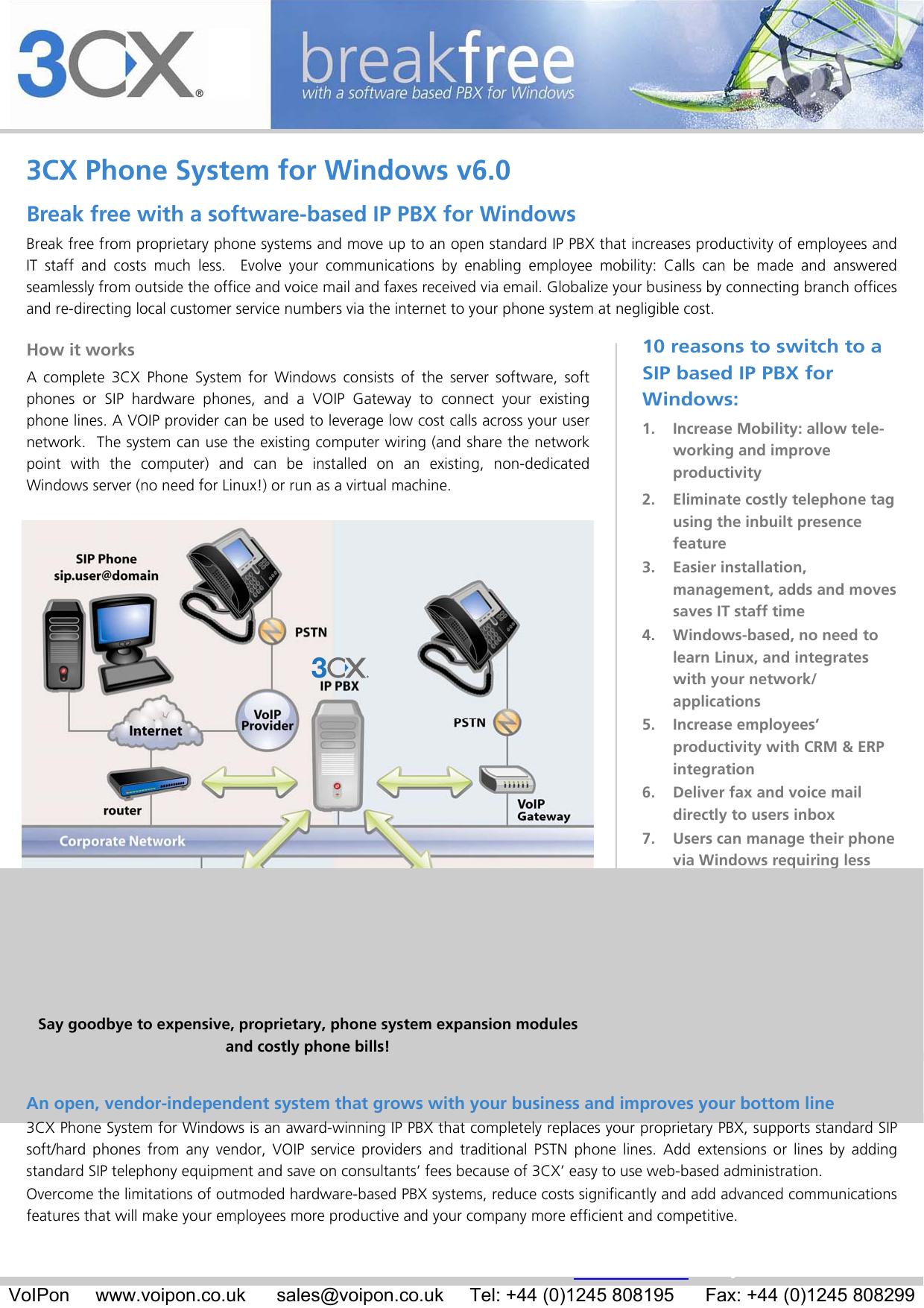 3CX Phone System for Windows v6 0 | manualzz com