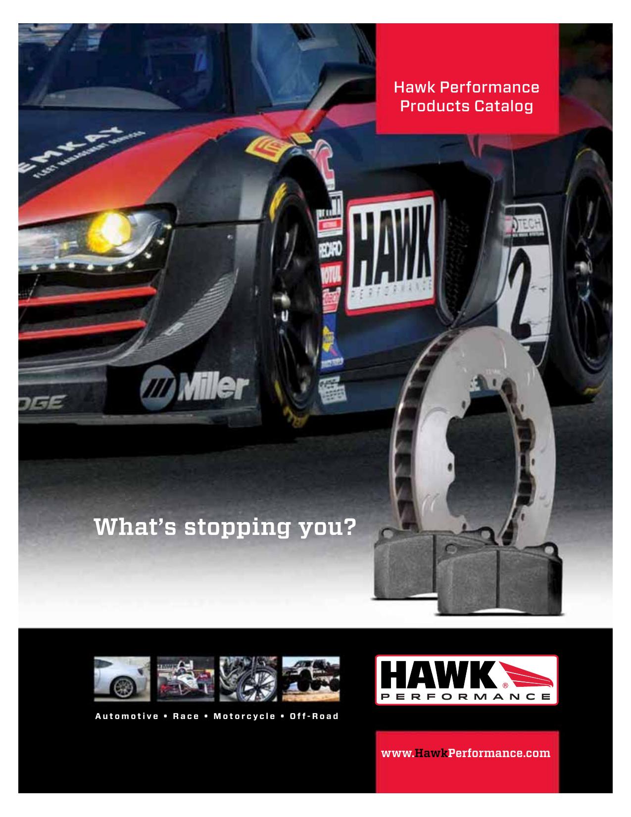 Hawk Performance HB359F.543 HPS Performance Ceramic Brake Pad