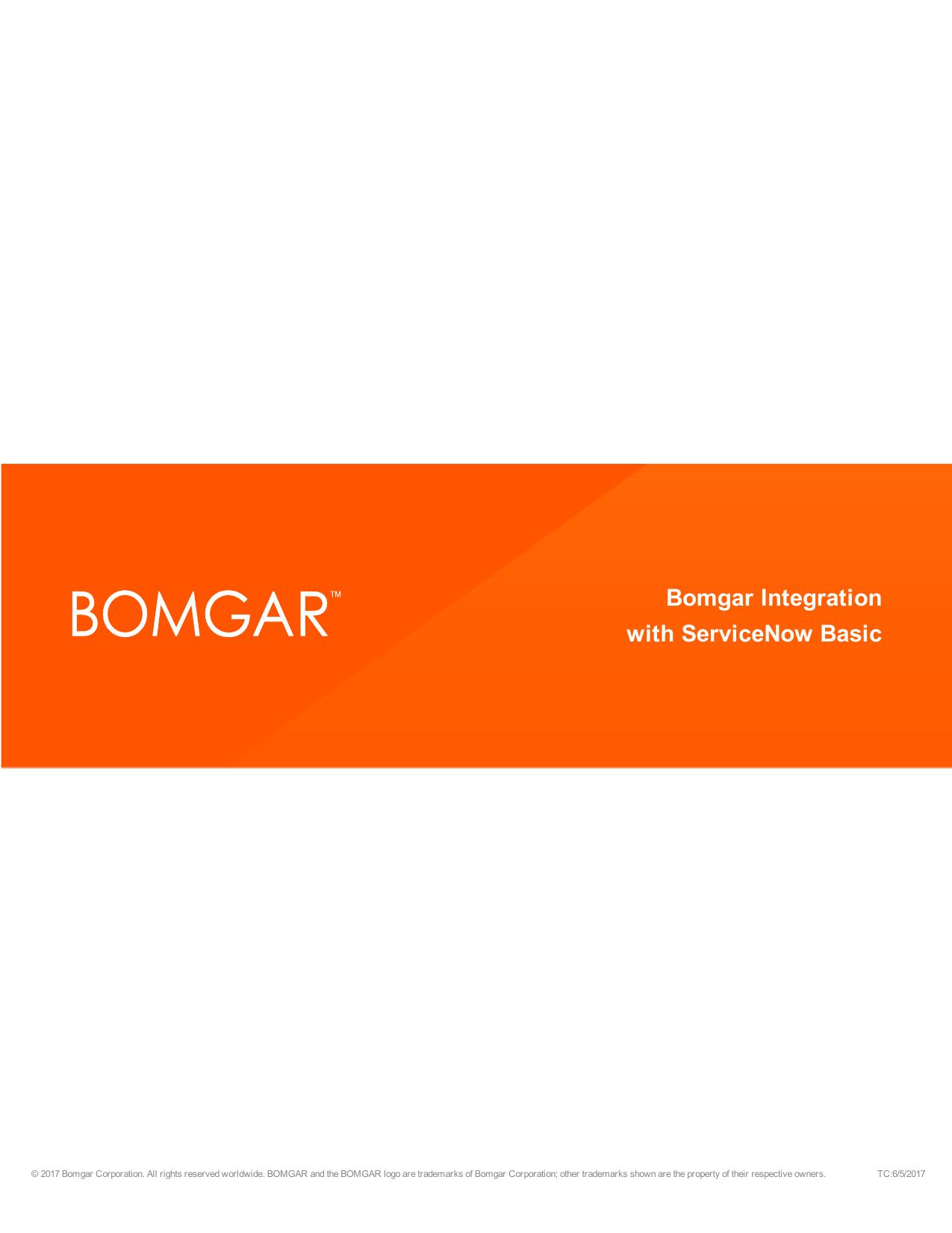 ServiceNow Basic Integration with Bomgar | manualzz com