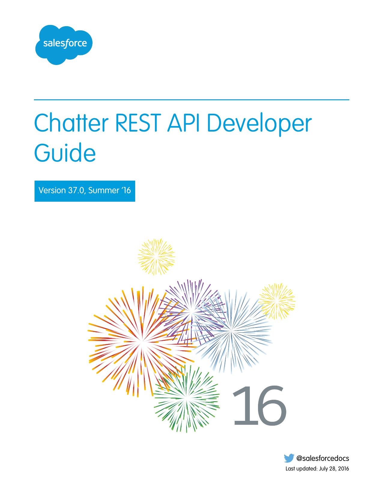 Chatter REST API Developer Guide | manualzz com