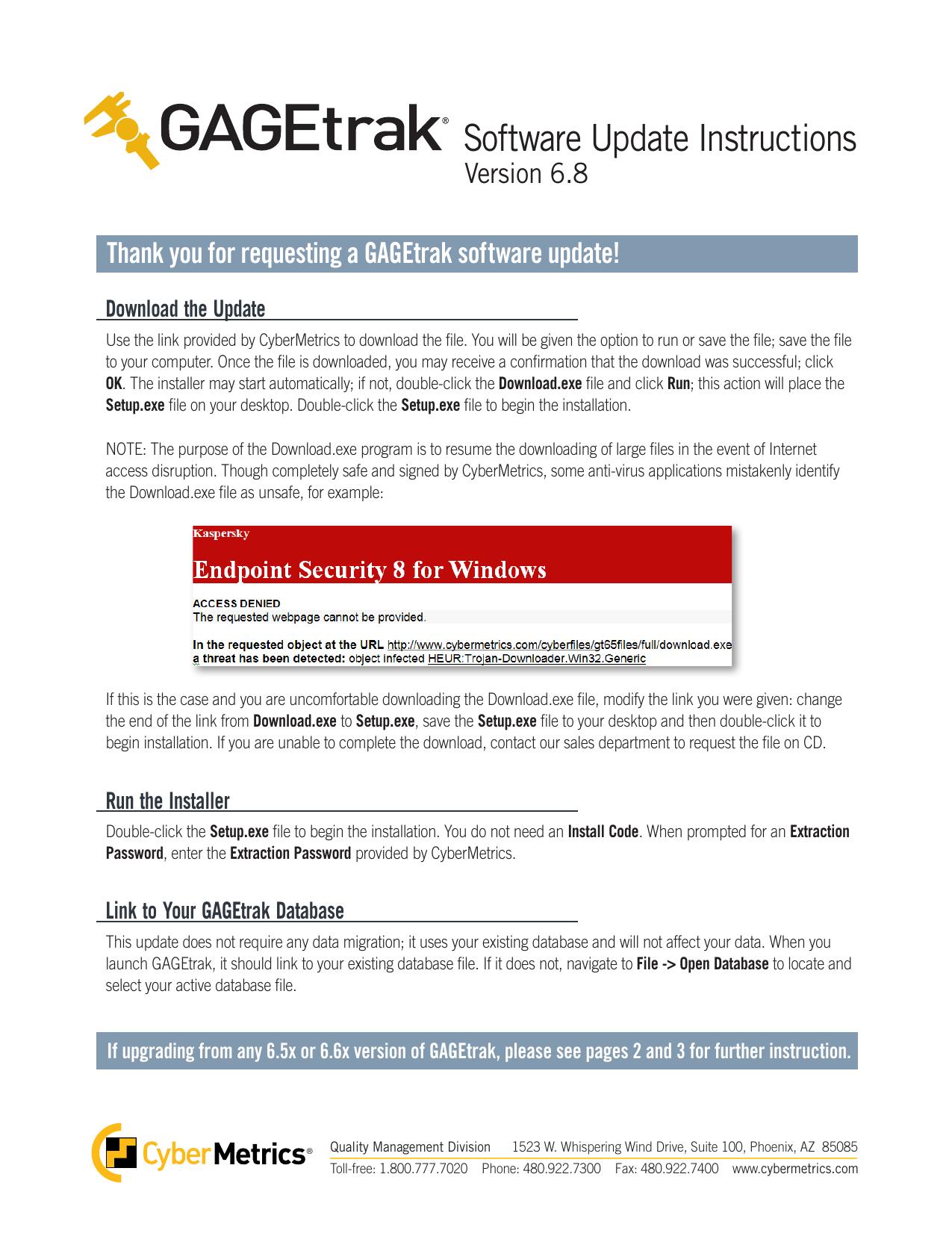 GAGEtrak Software Update Instructions 6 8 | manualzz com