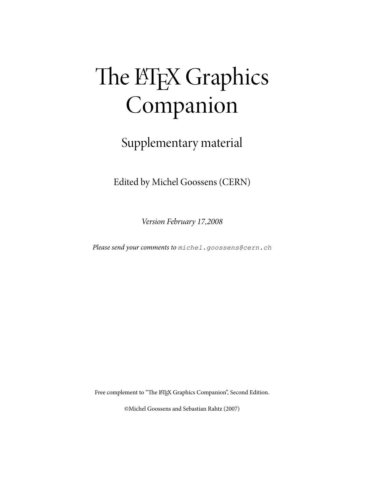 eLATEXGraphics Companion   manualzz com