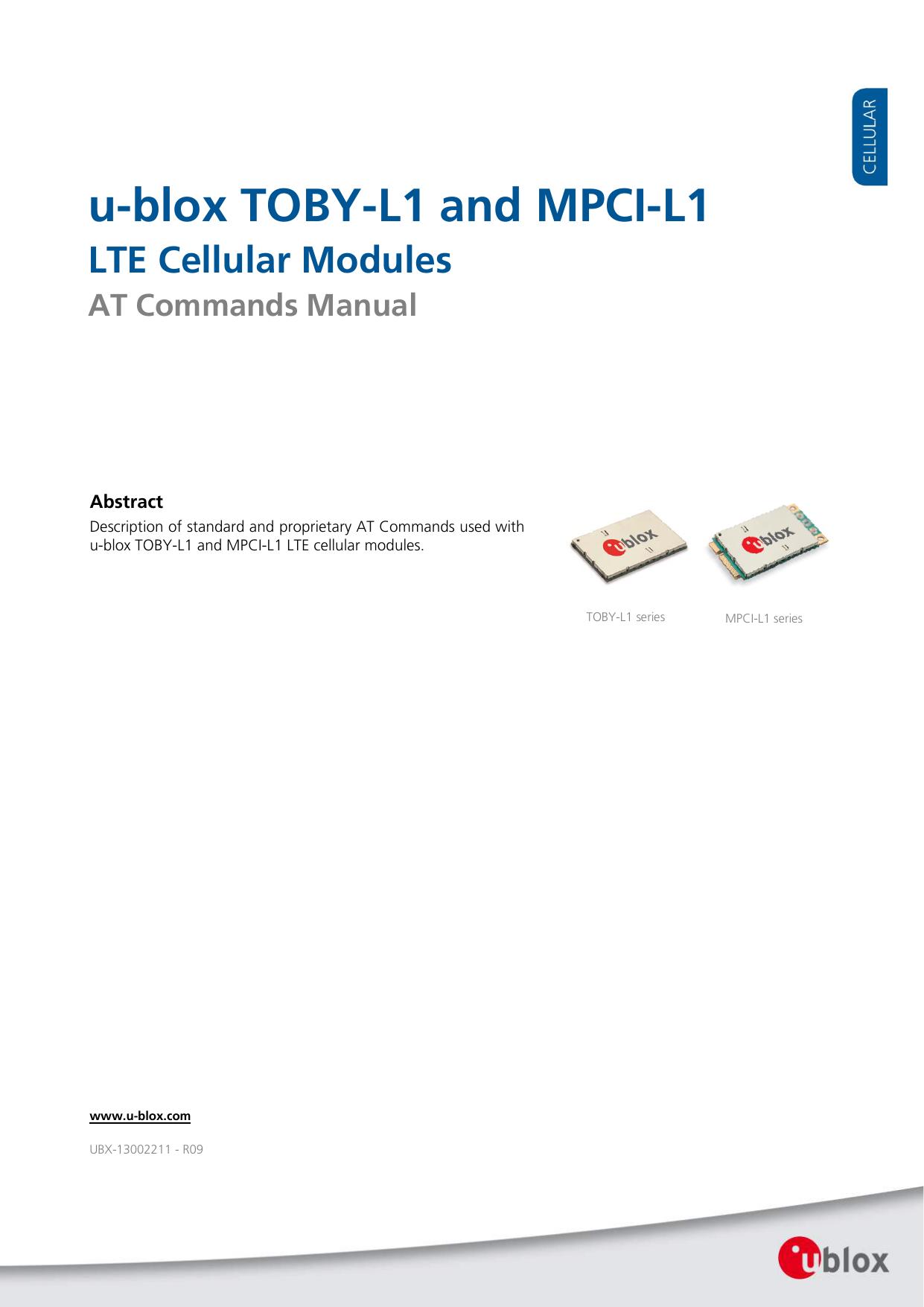 u-blox TOBY-L1 and MPCI-L1 | manualzz com