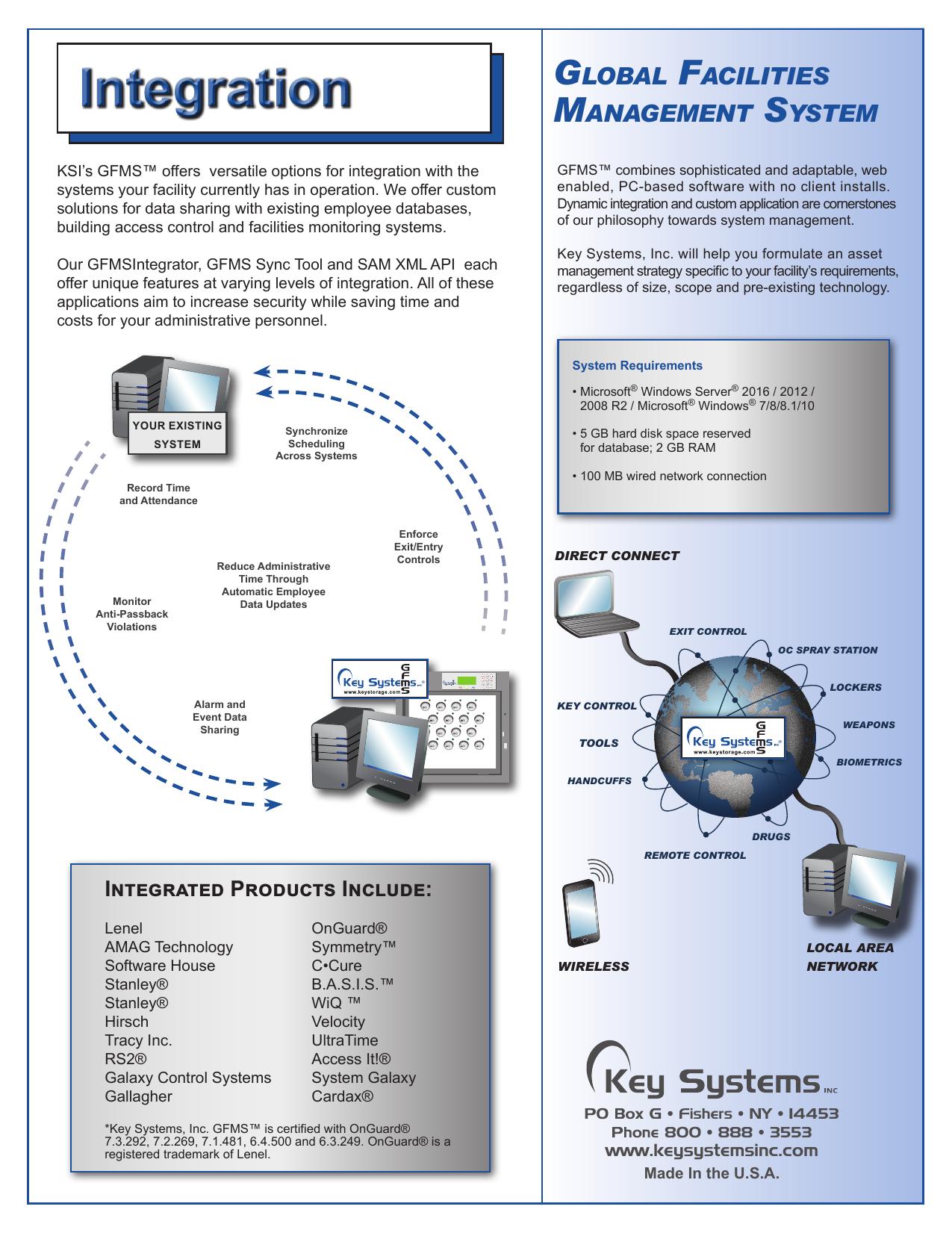 Gfms Integration Key Systems Inc Lenel Wireless Wiring Diagrams