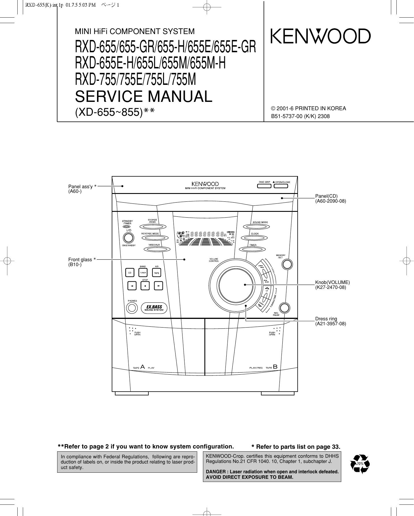 RXD-655/655-GR/655-H/655E/655E-GR RXD-655E-H   manualzz.com on