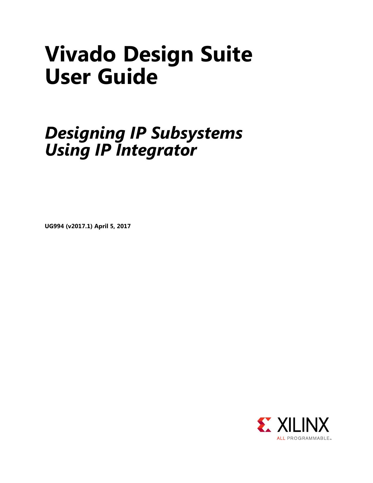 Designing IP Subsystems Using IP Integrator (UG994) | manualzz com